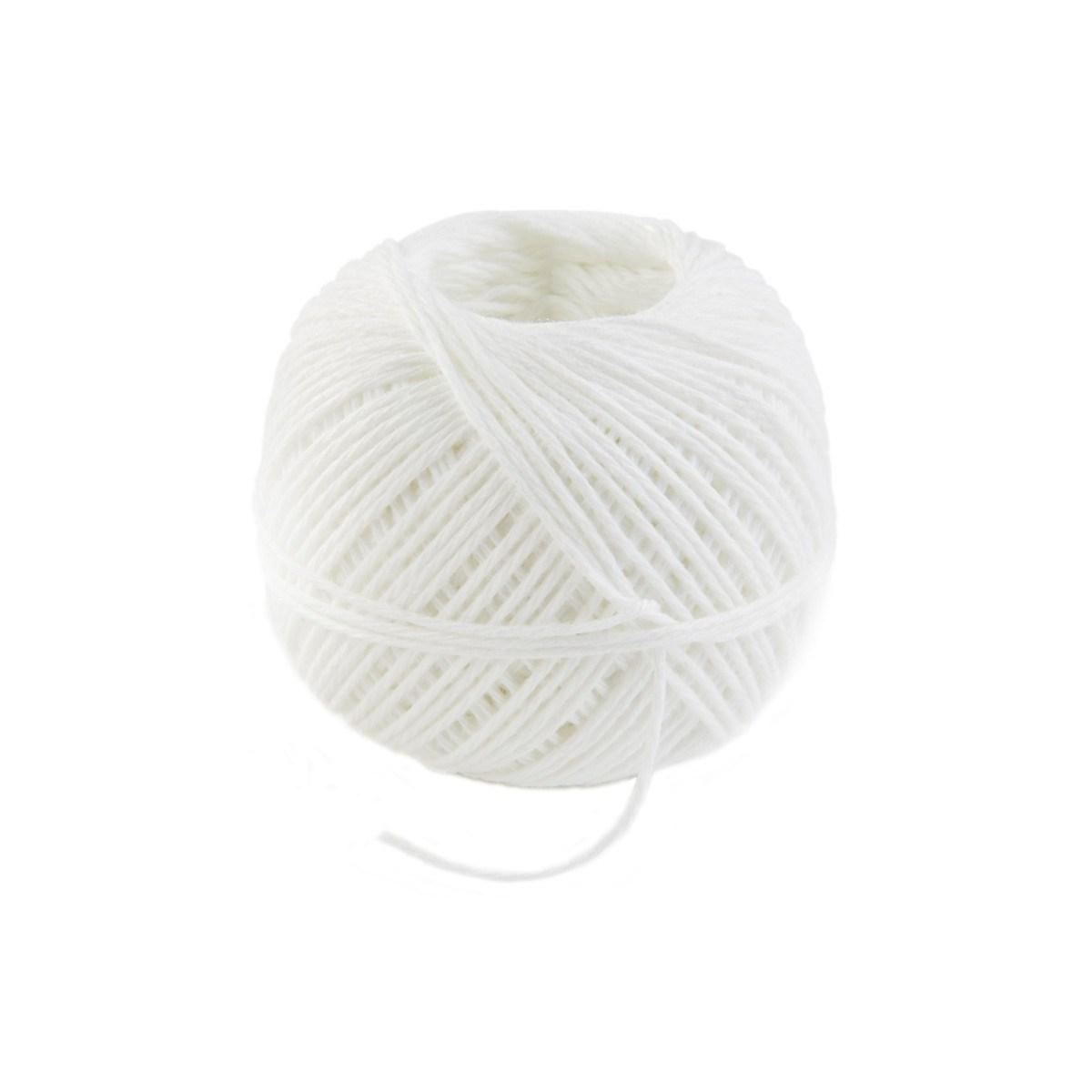 Ficelle alimentaire en coton blanc