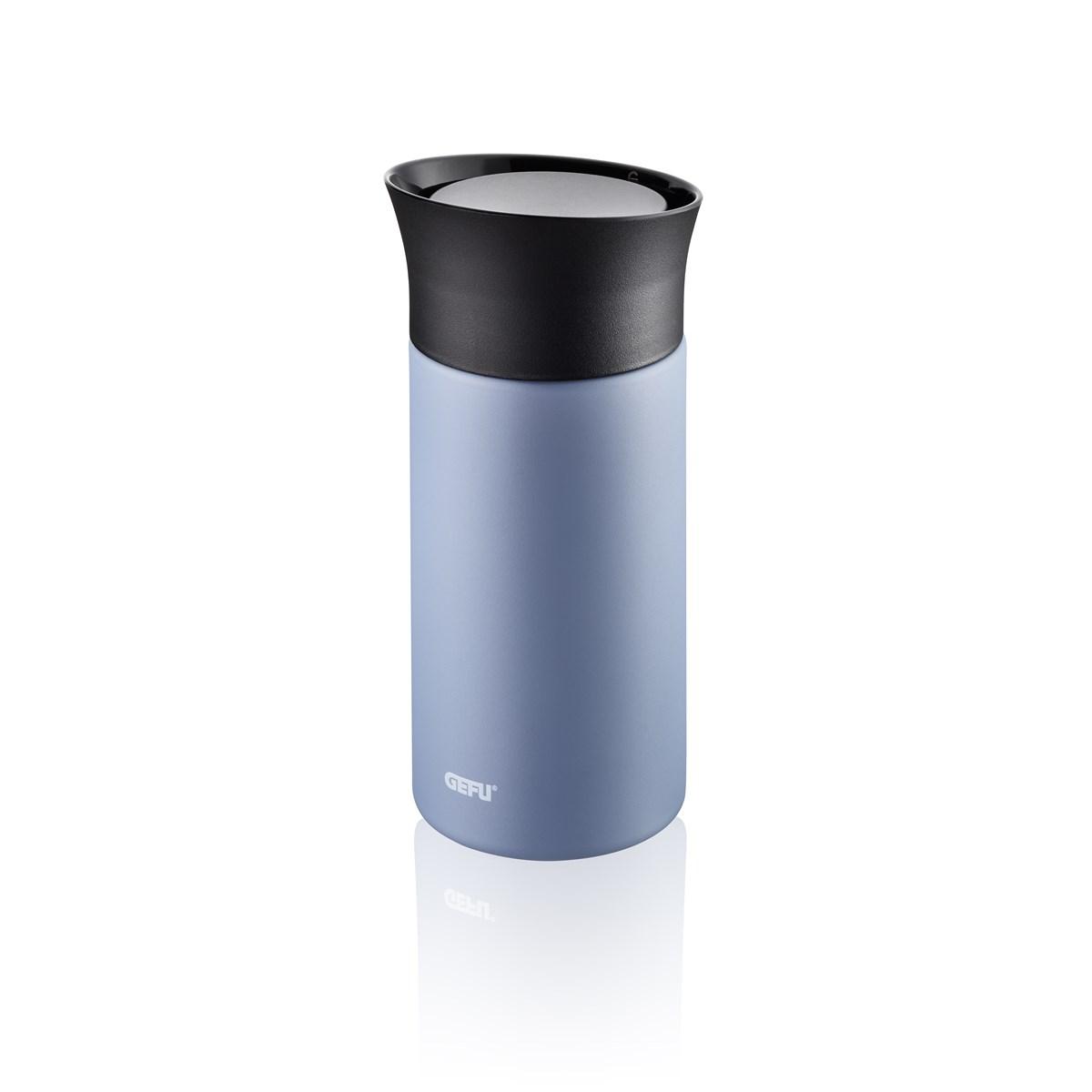 Mug isotherme en acier inoxydable bleu