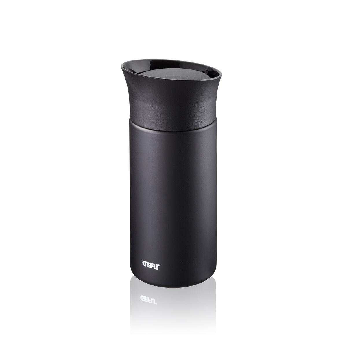 Mug isotherme en acier inoxydable noir