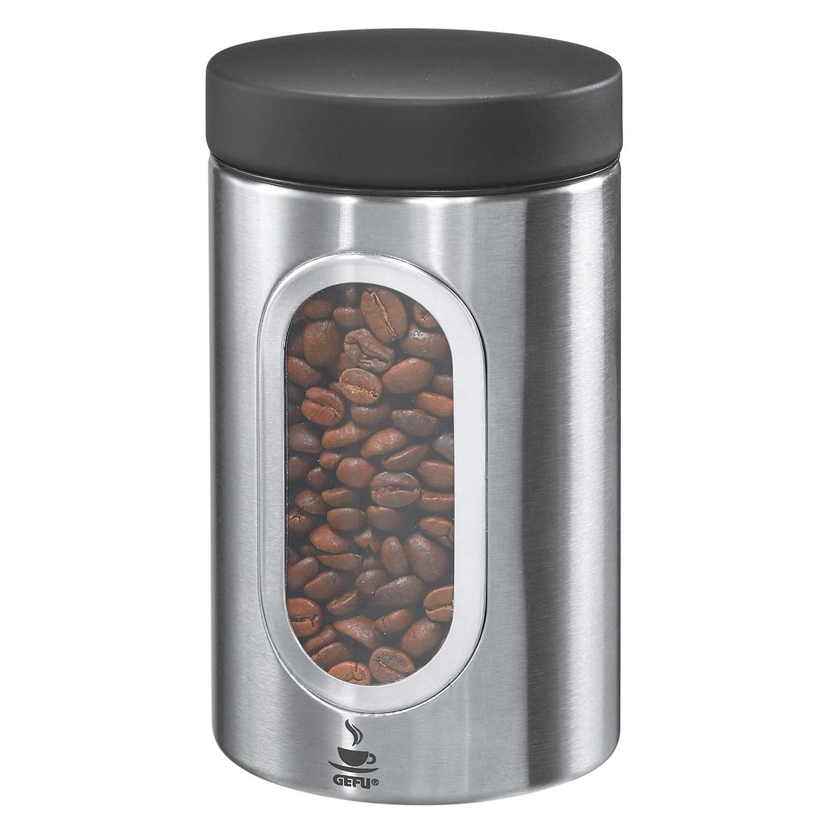 Boîte à café en acier inoxydable argent 250g