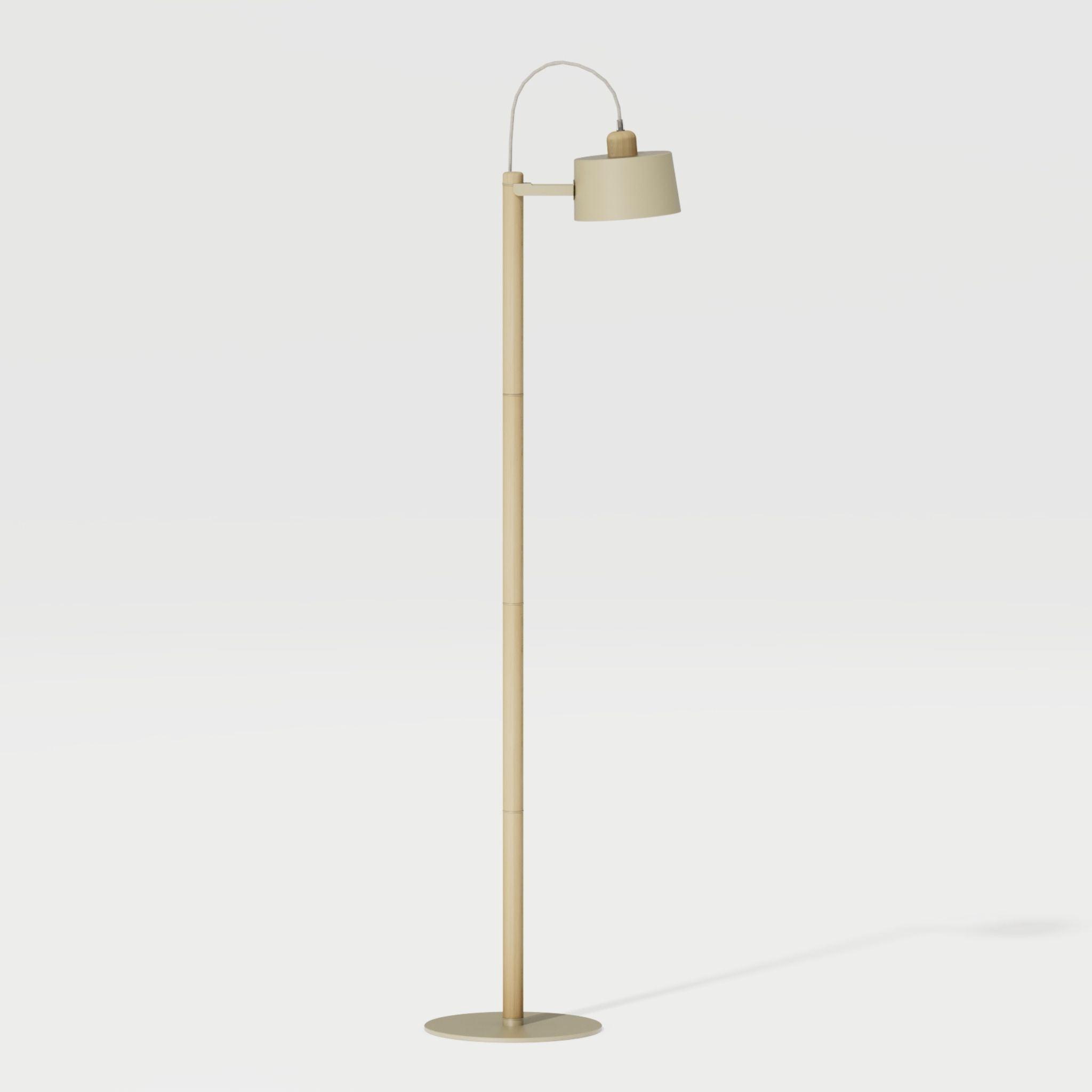 Luminaire à poser chêne et métal laiton