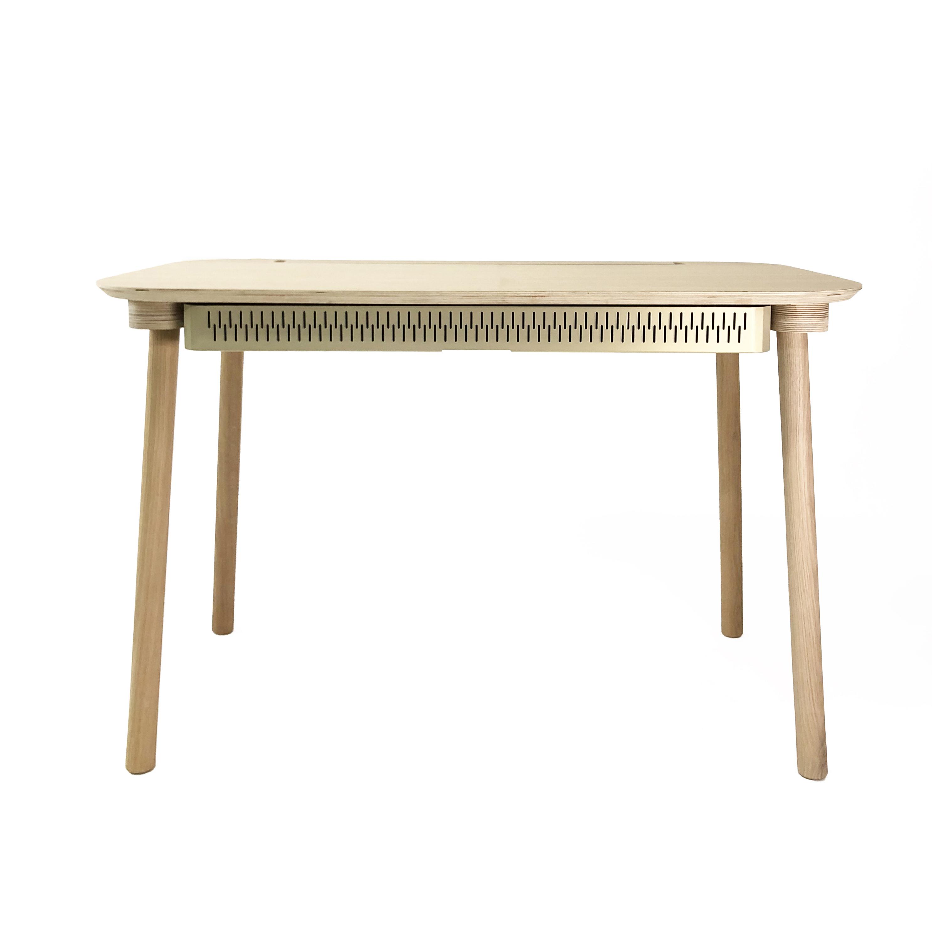 Bureau en chêne avec tiroir laiton