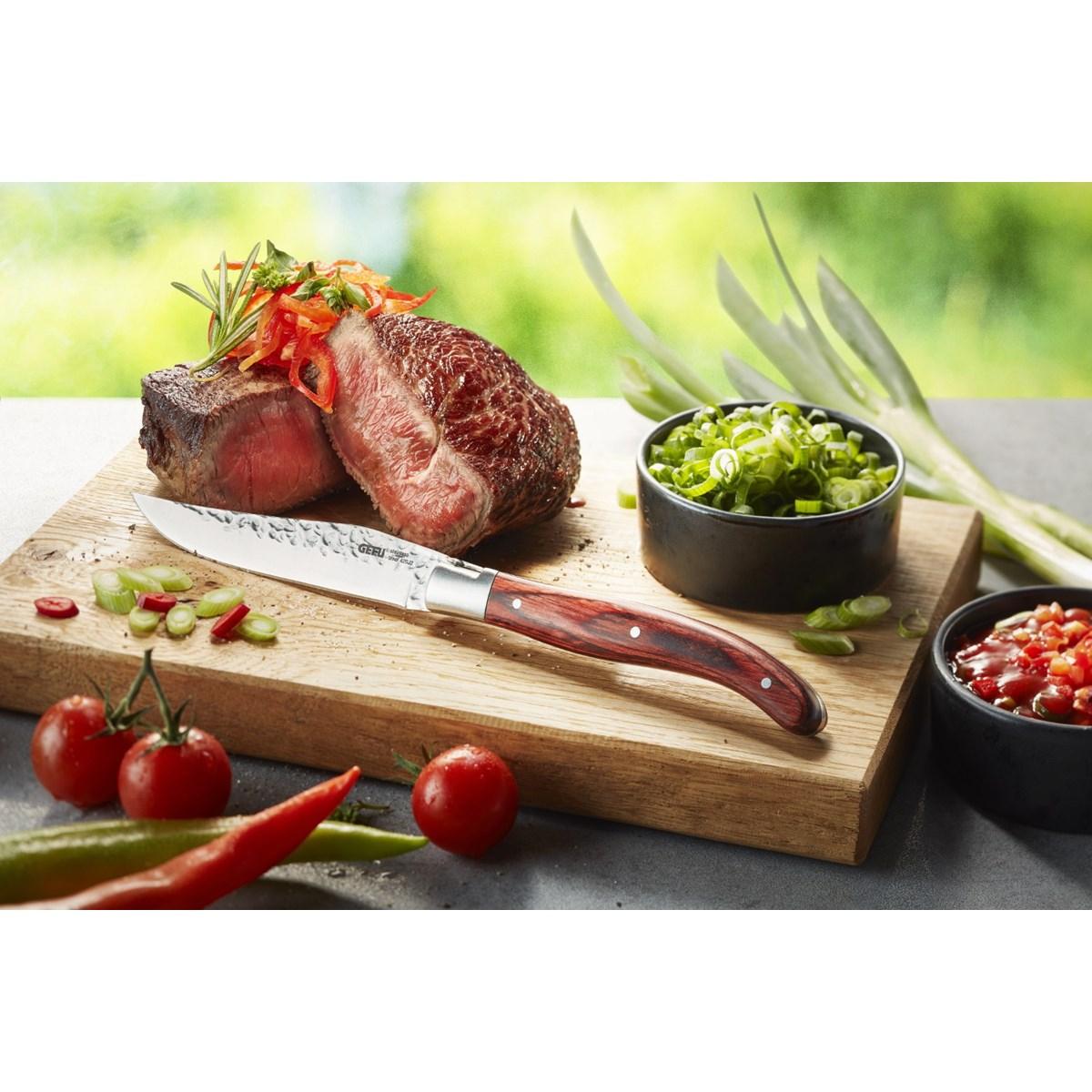 Couteaux à steak 6 pièces en acier argent