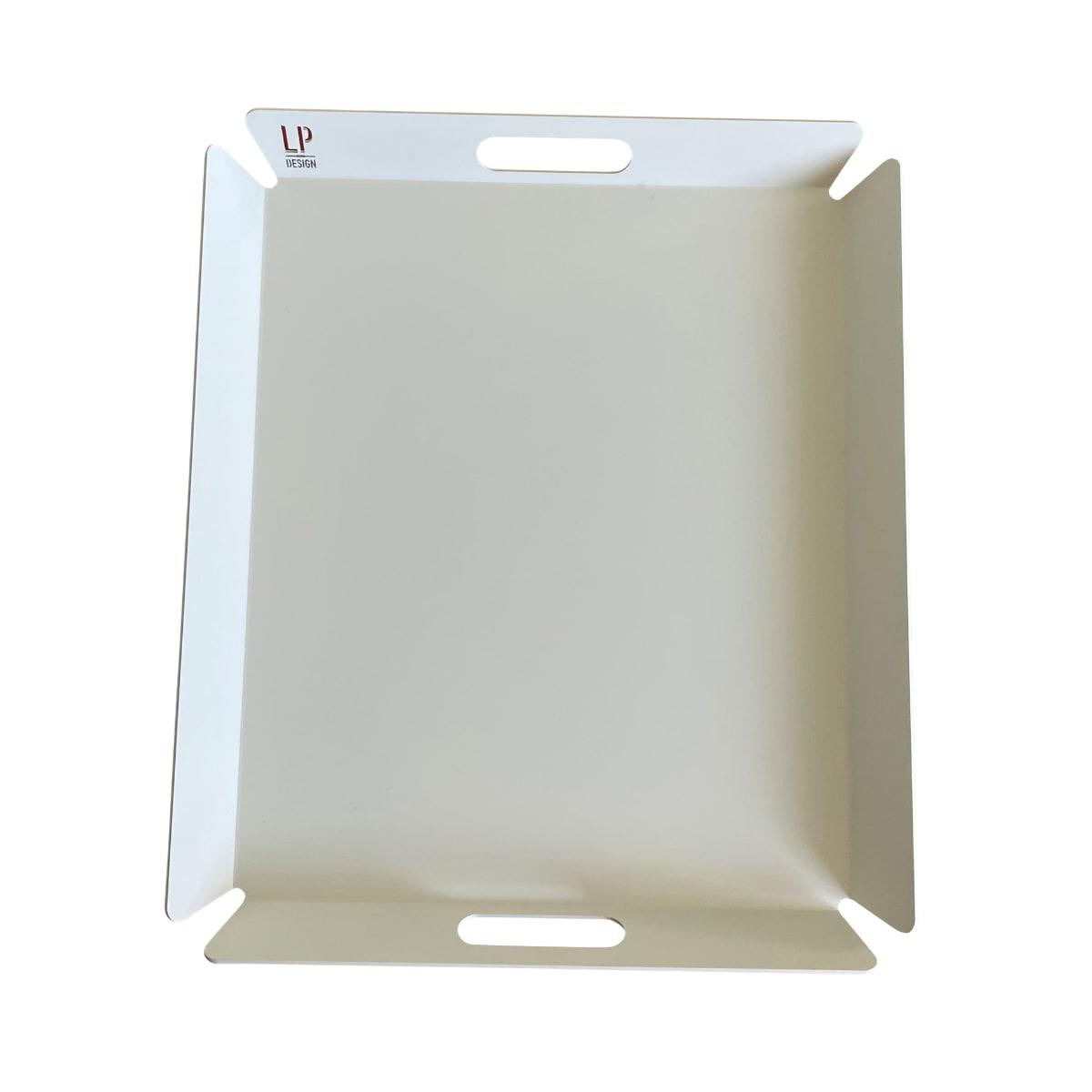 Plateau aluminium blanc 56X48cm