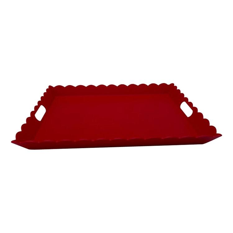 Plateau aluminium rouge 56X48cm