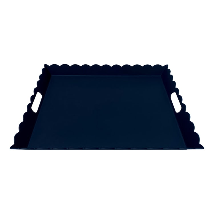 Plateau aluminium noir 56X48cm