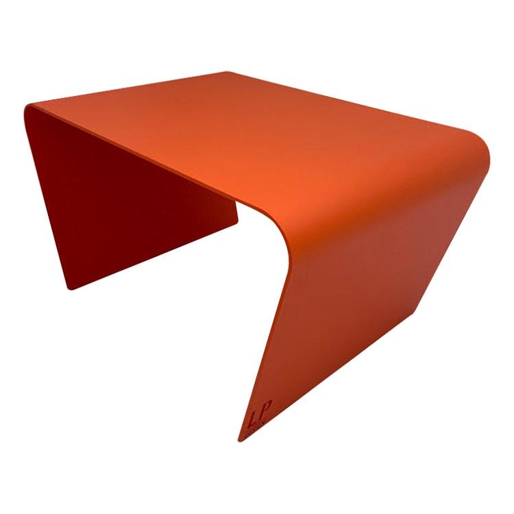 Table basse de jardin aluminium orange L68xl49cm H40cm