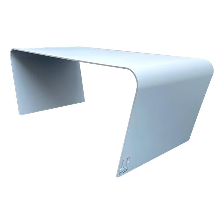 Table basse de jardin aluminium gris L98xl49cm H40cm