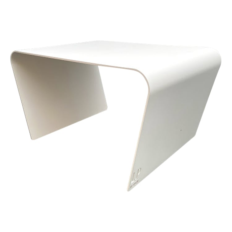 Table basse de jardin aluminium blanc L68xl49cm H40cm
