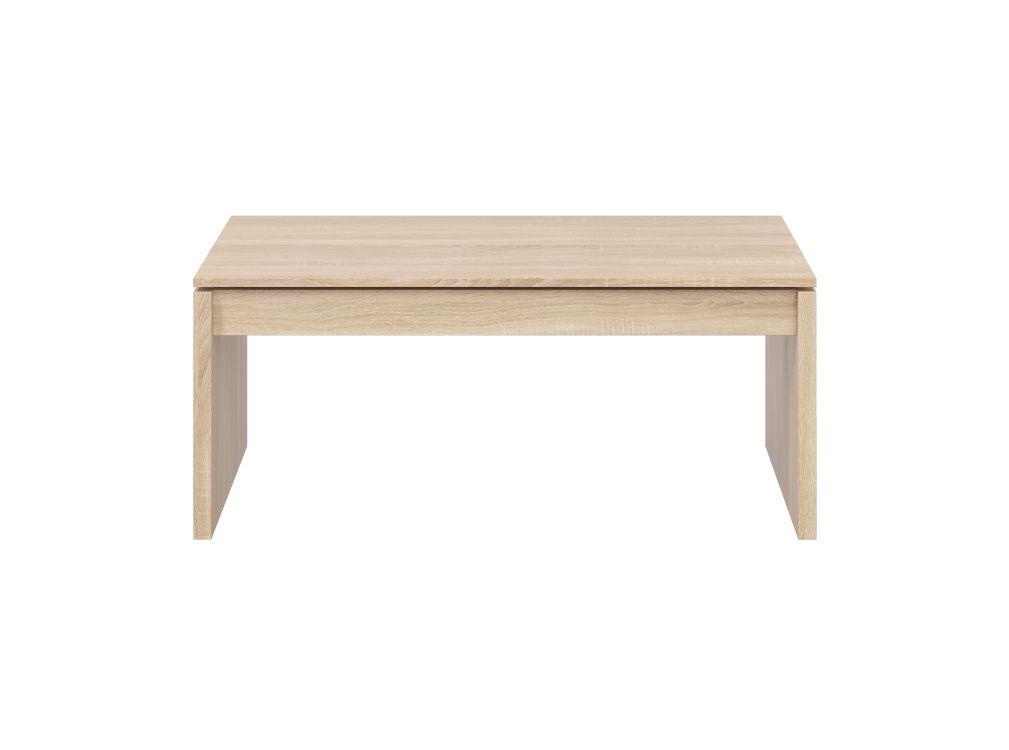 Table basse bois à plateau relevable L102cm x H43/54cm