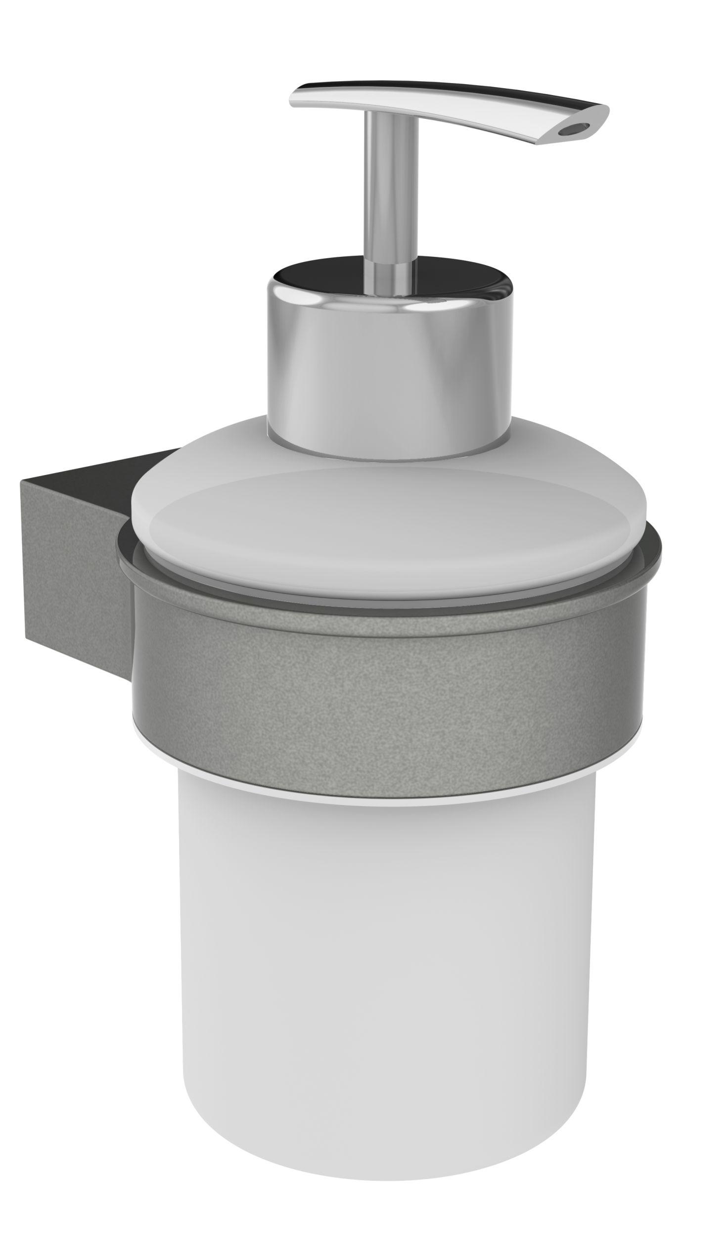 Distributeur savon en alu laqué à fixer
