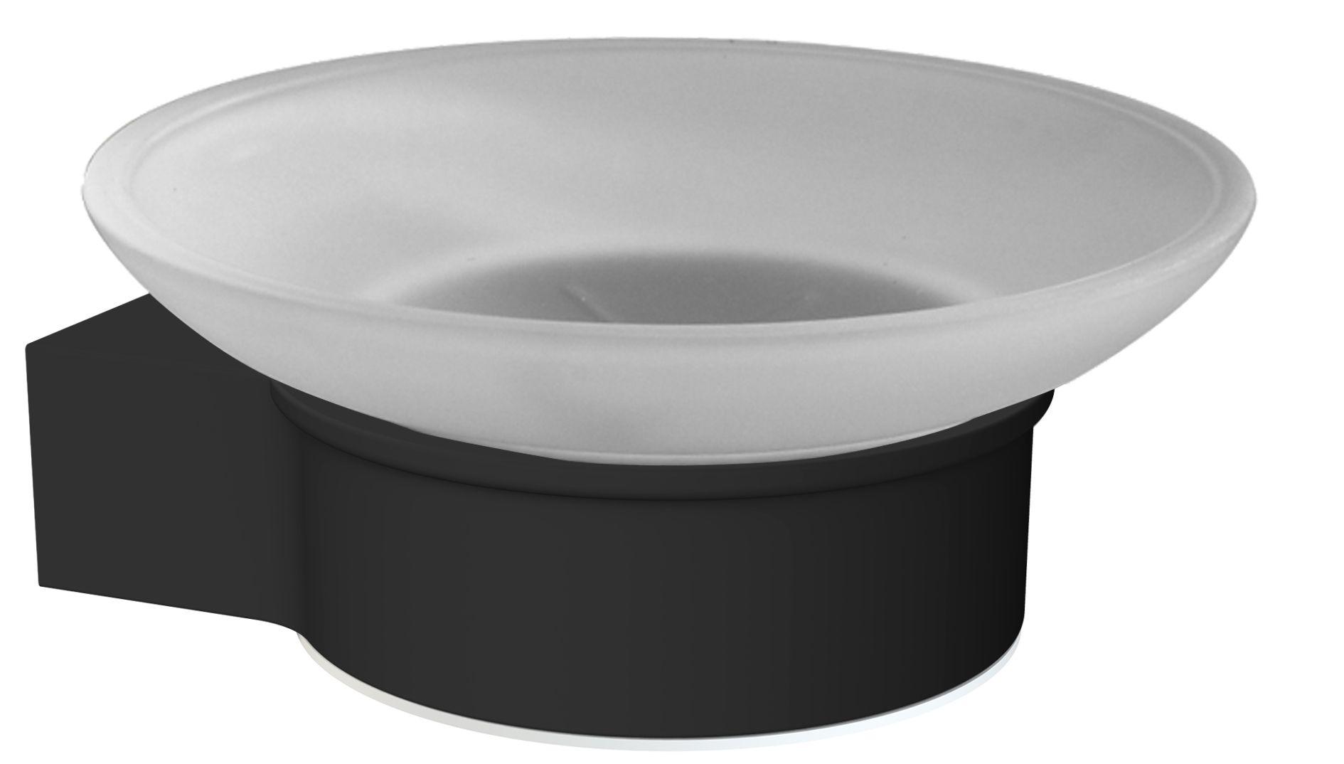 Porte-savon en aluminium laqué à fixer