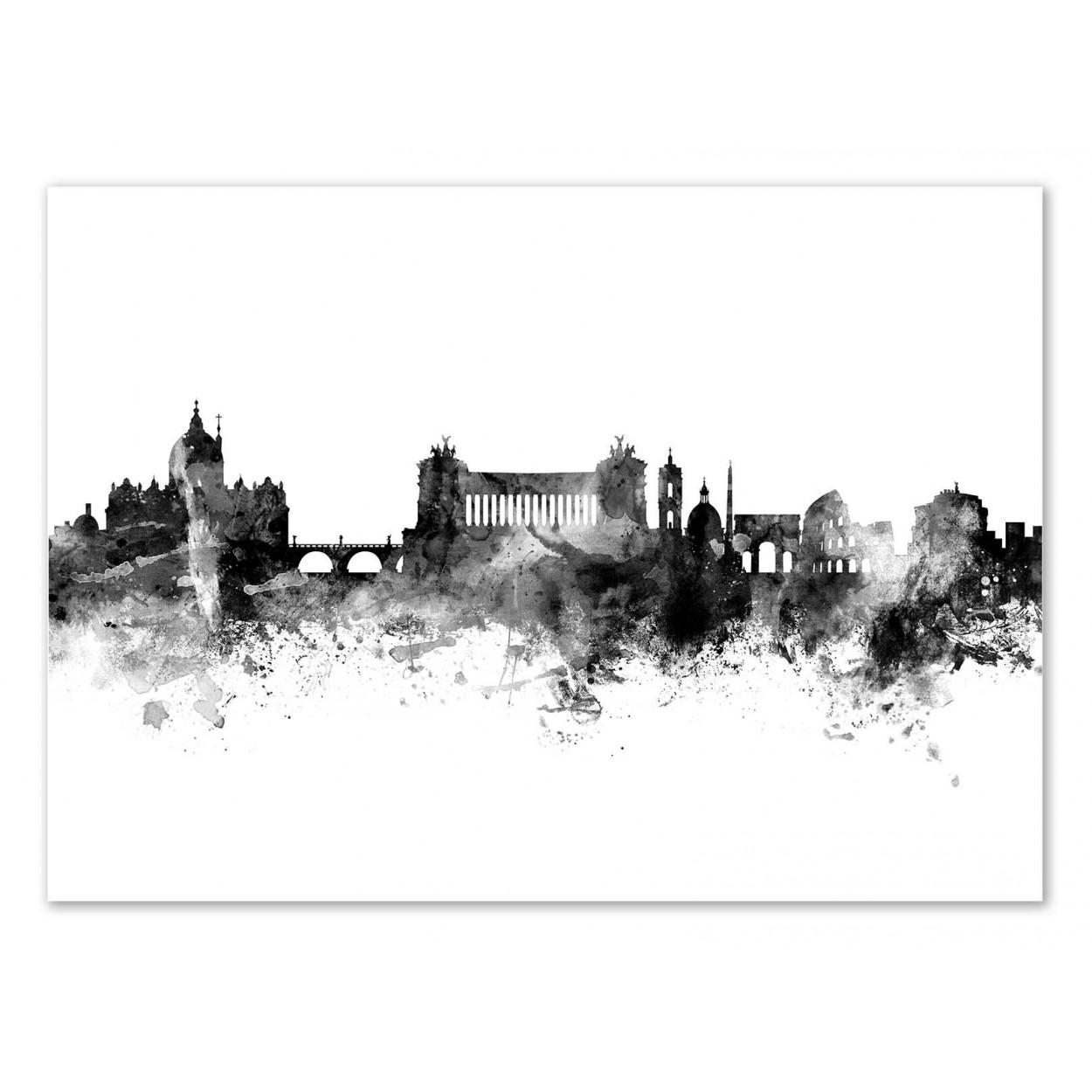 ROME ITALY SKYLINE - Affiche d'art 50 x 70 cm