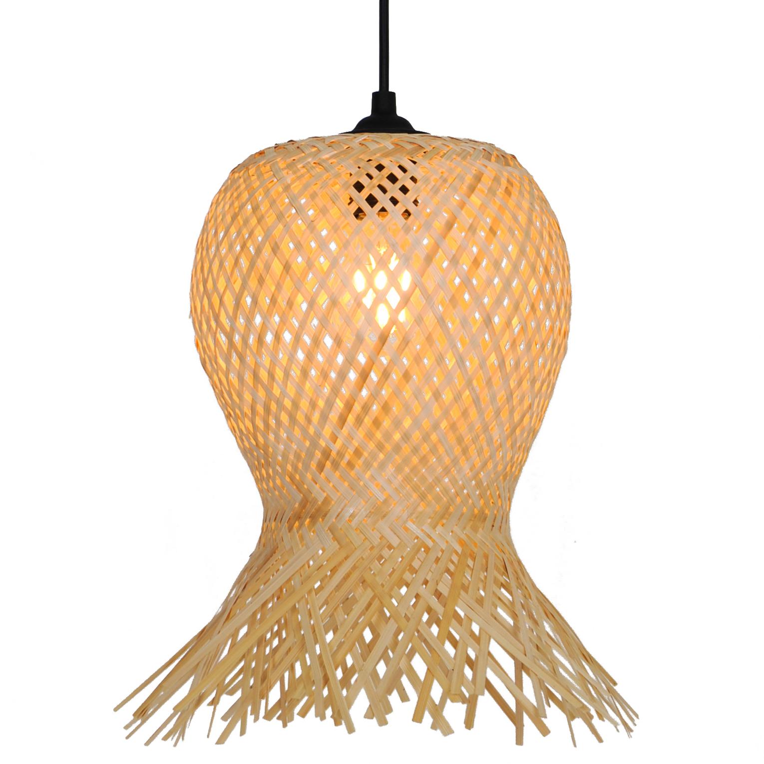 Suspension en bambou marron