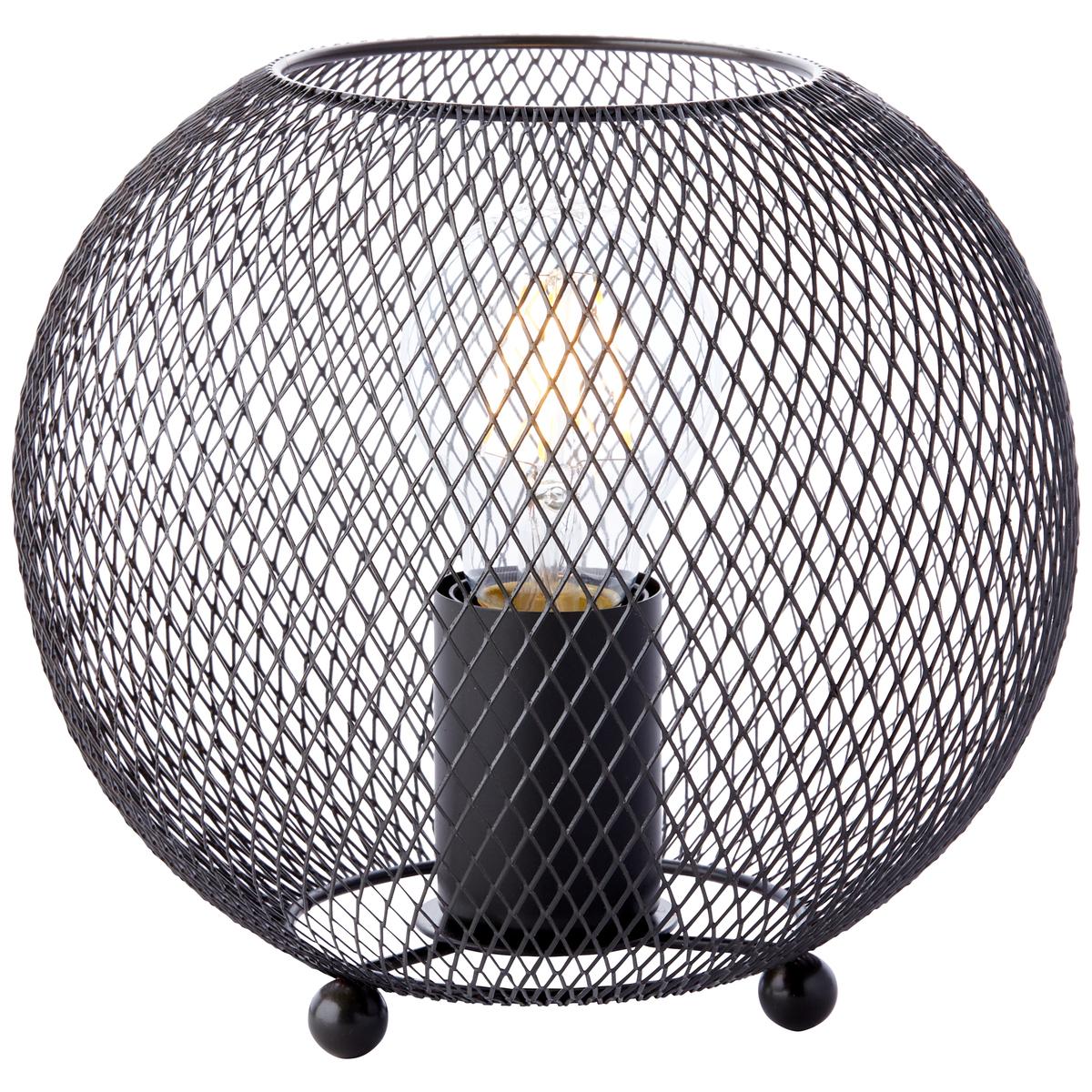 Lampe en métal noir