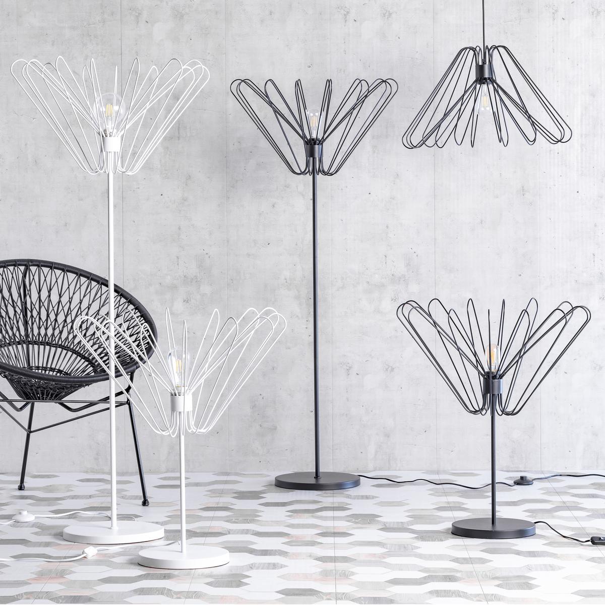 Lampadaire en métal blanc