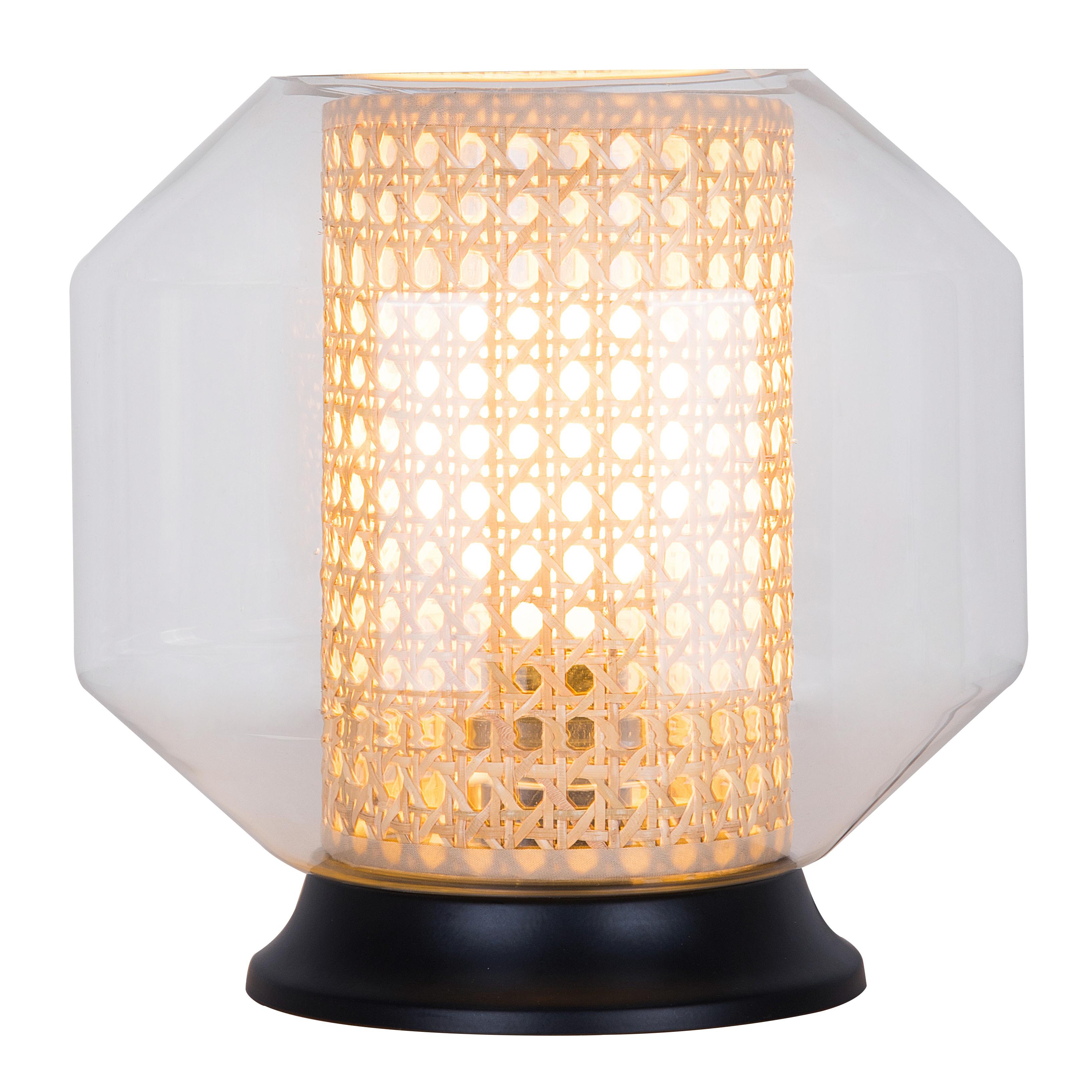 Lampe en verre naturel
