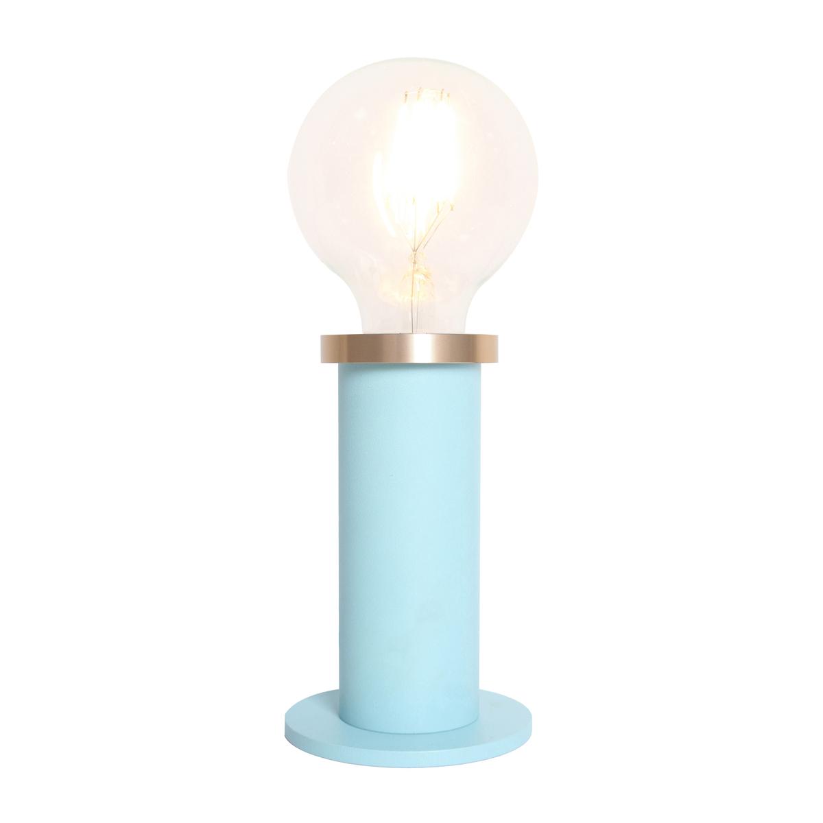 Pied de lampe en métal bleu