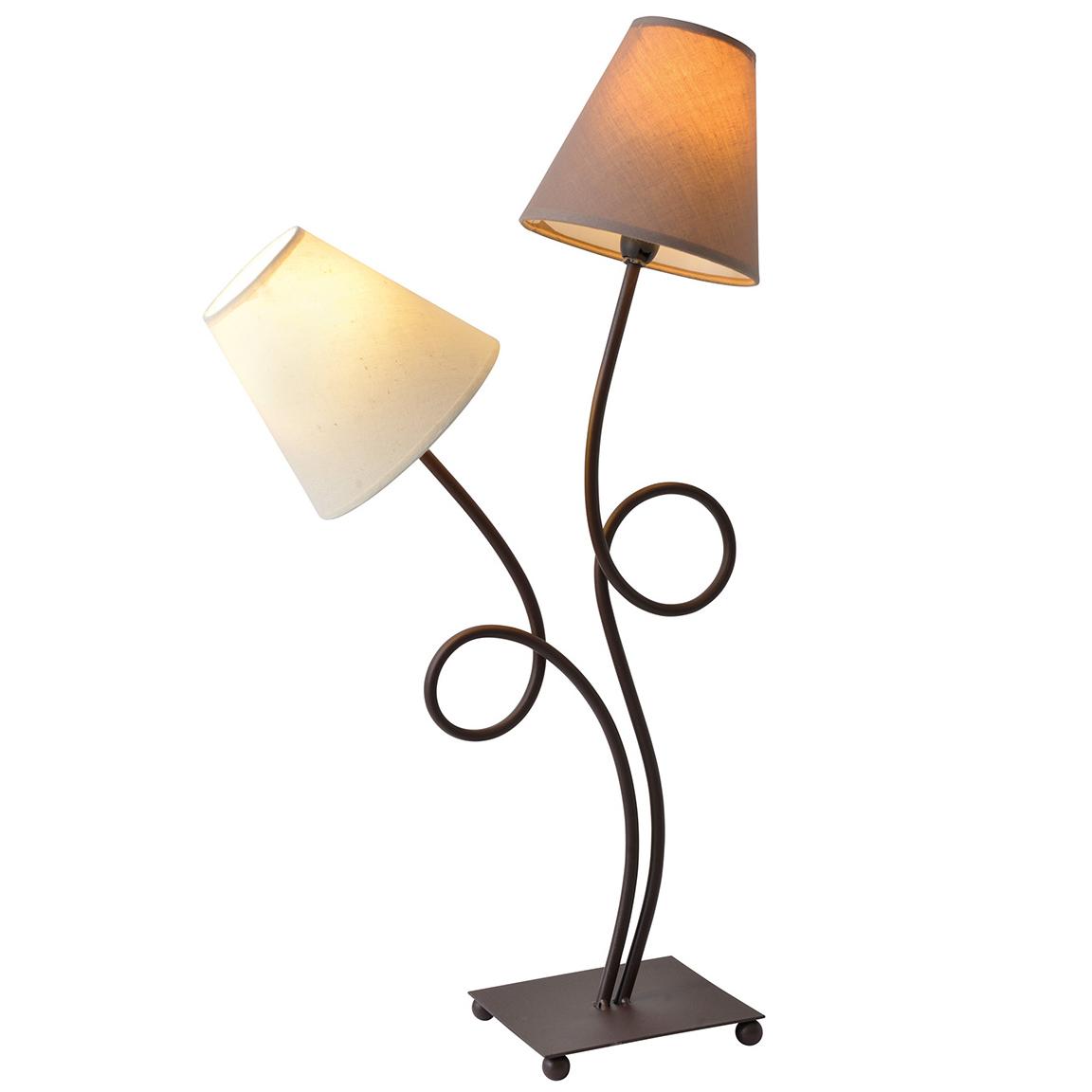Lampe en métal marron