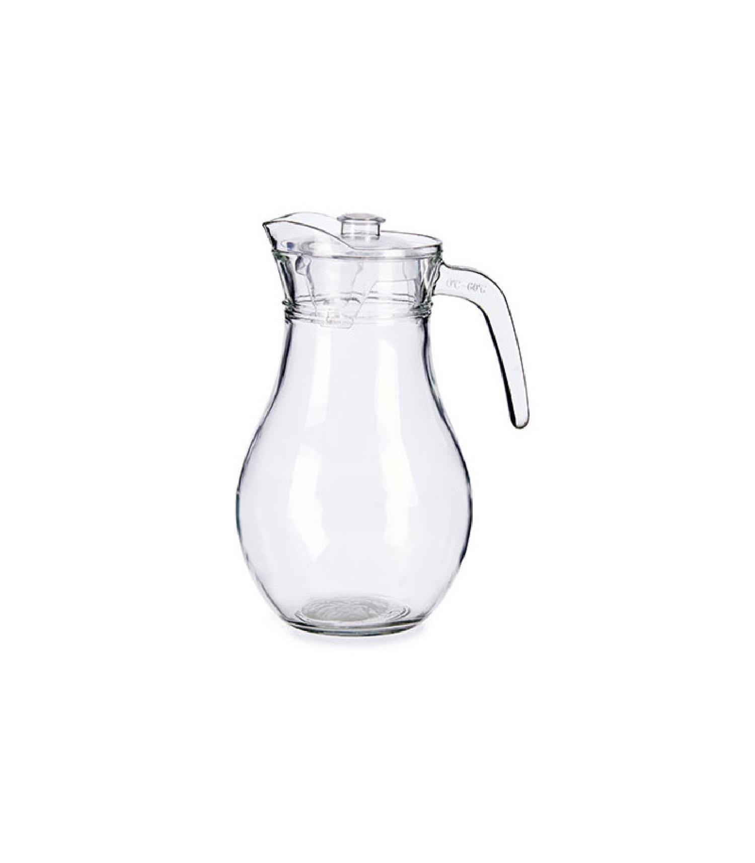Carafe à jus de fruits en verre et bouchon plastique 1,8L