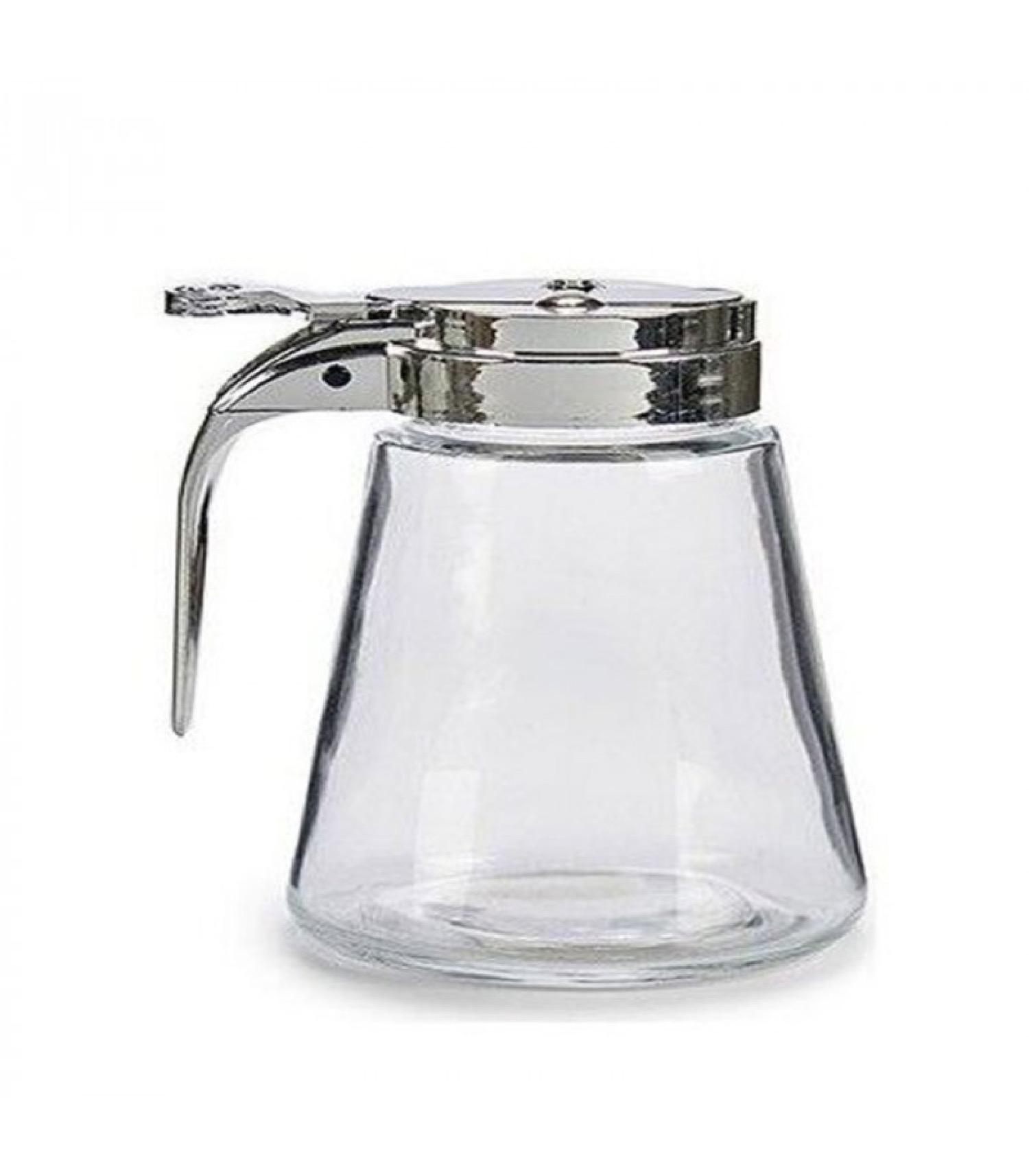 Pot à miel verre avec bec verseur