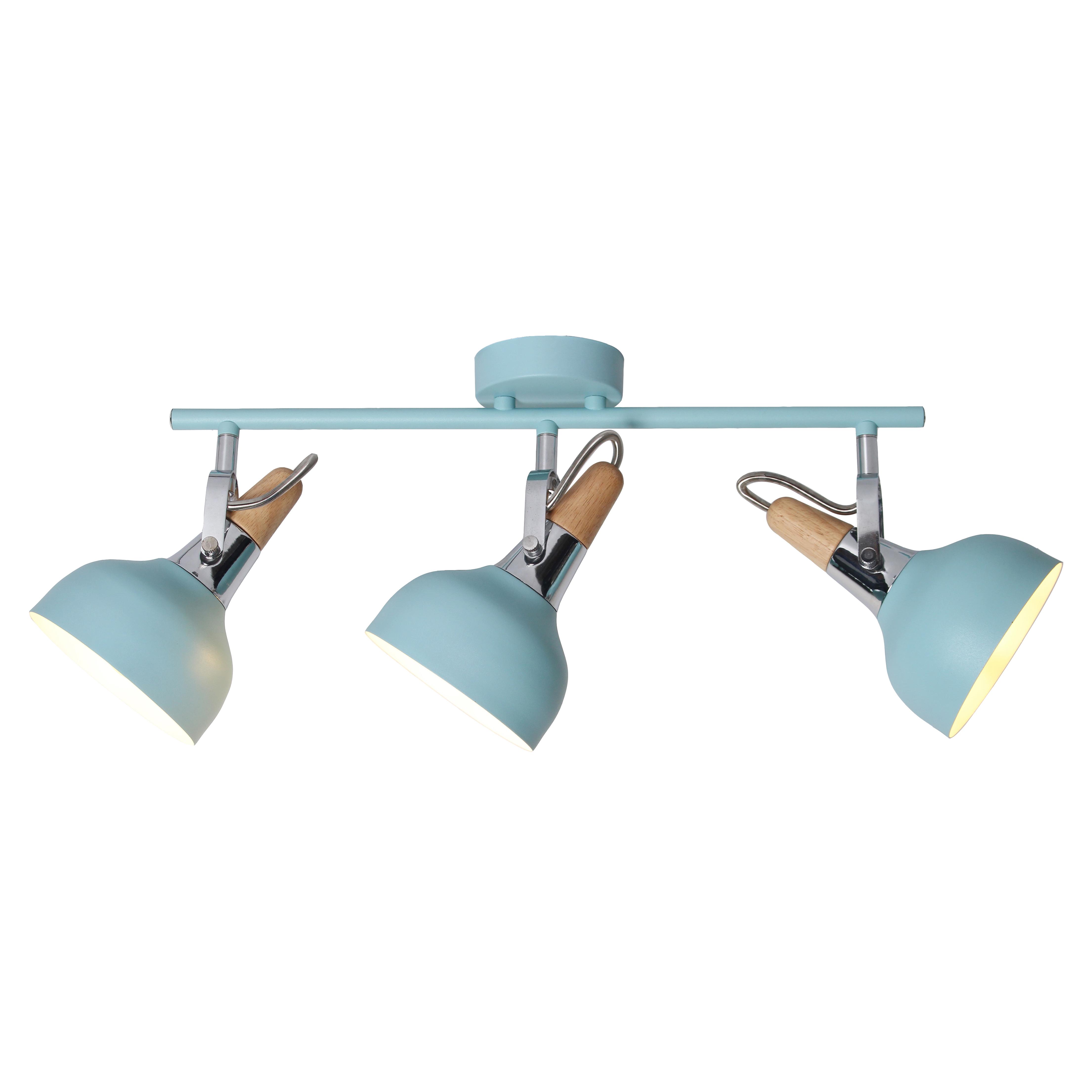 Plafonnier en métal bleu