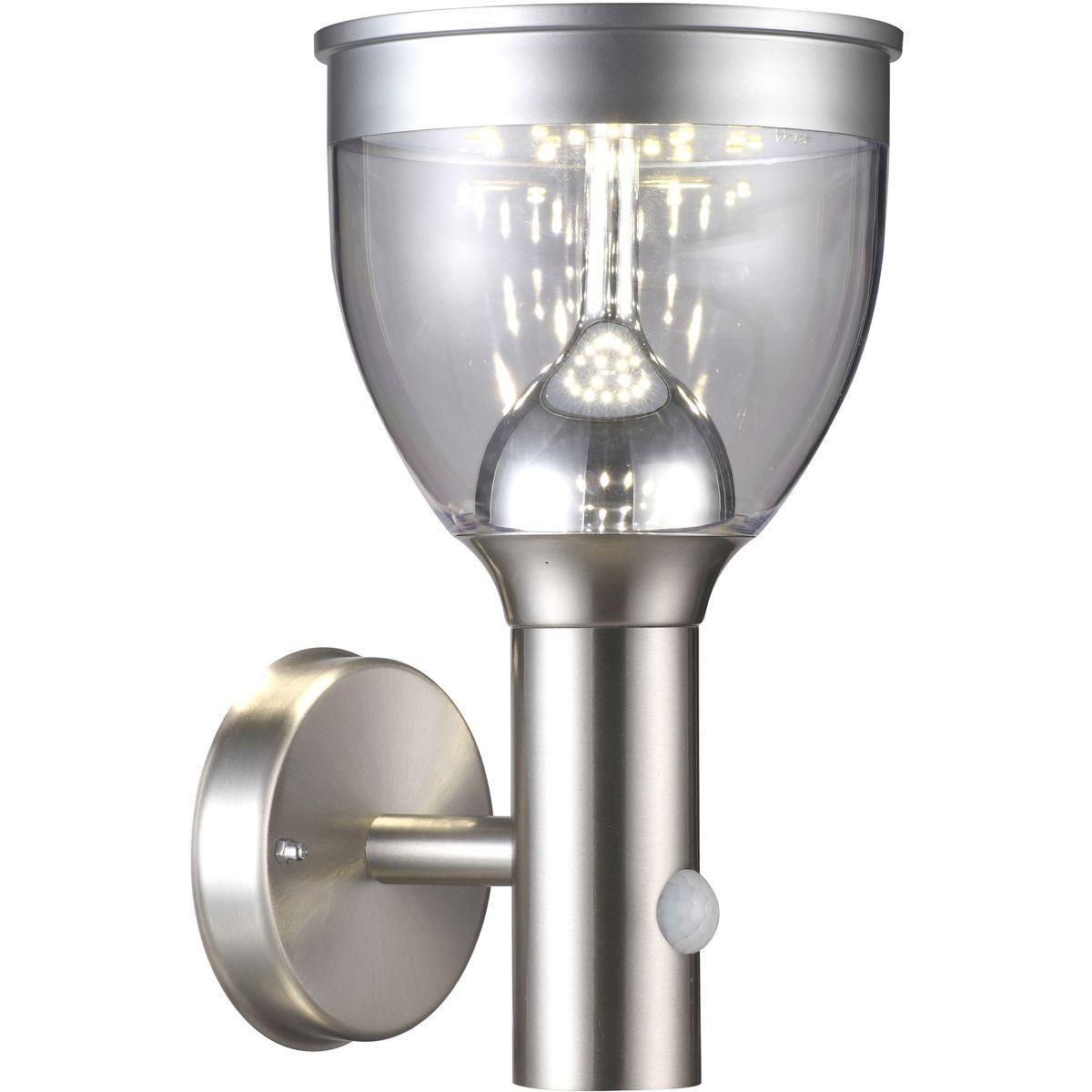 Applique extérieur en métal argenté