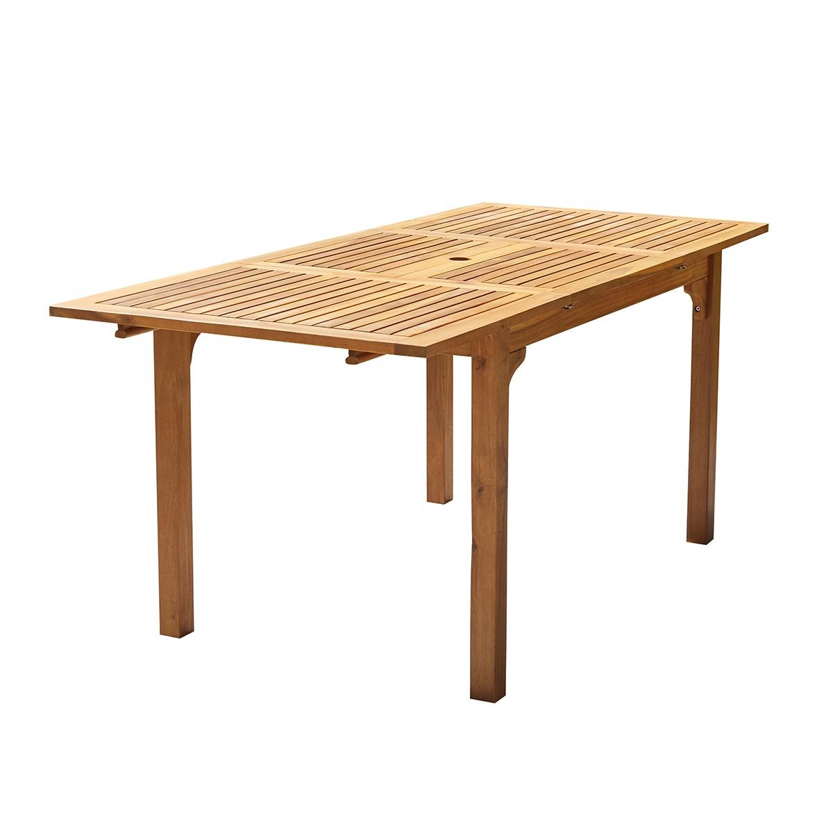 Table de jardin extensible en acacia 4 personnes