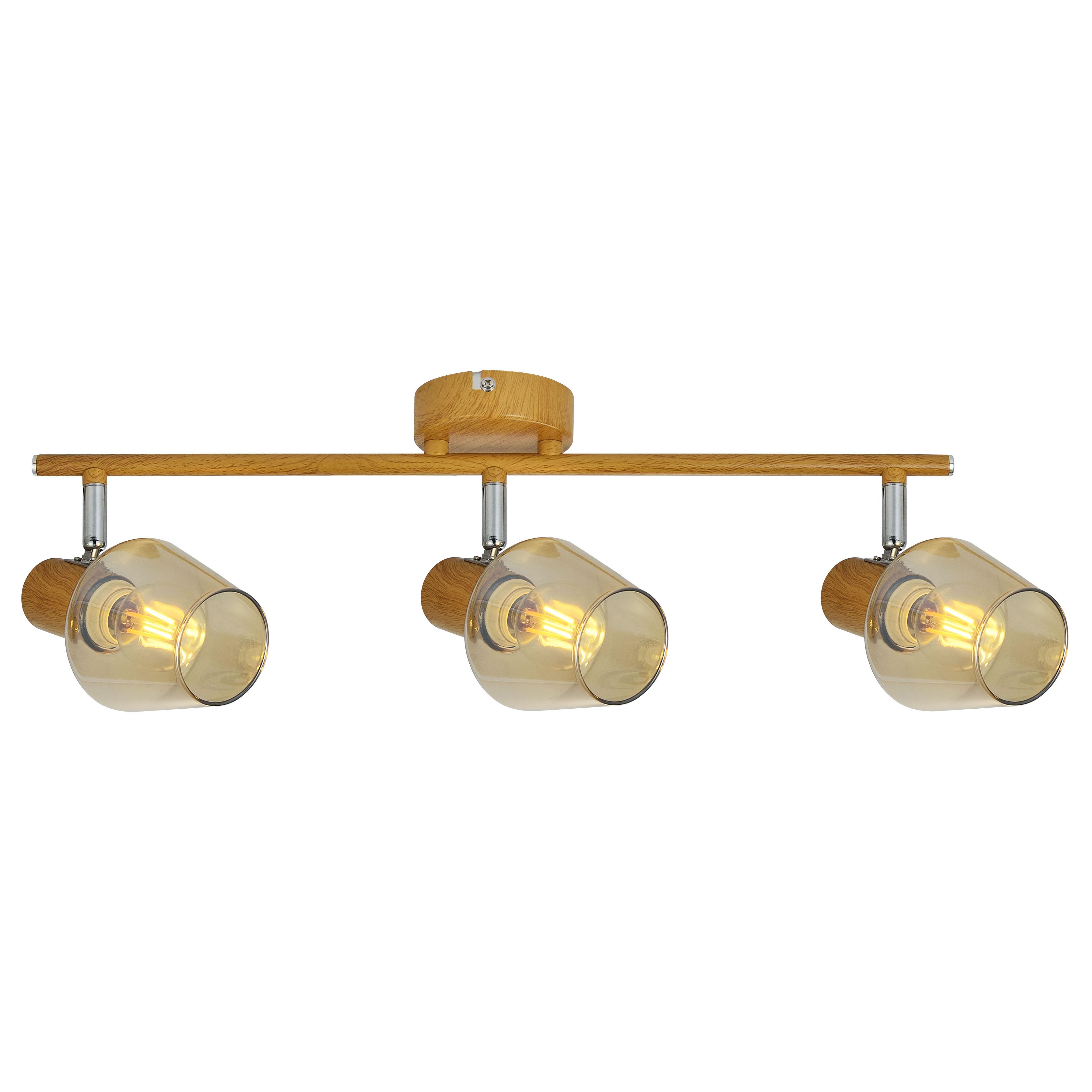 Plafonnier en métal marron