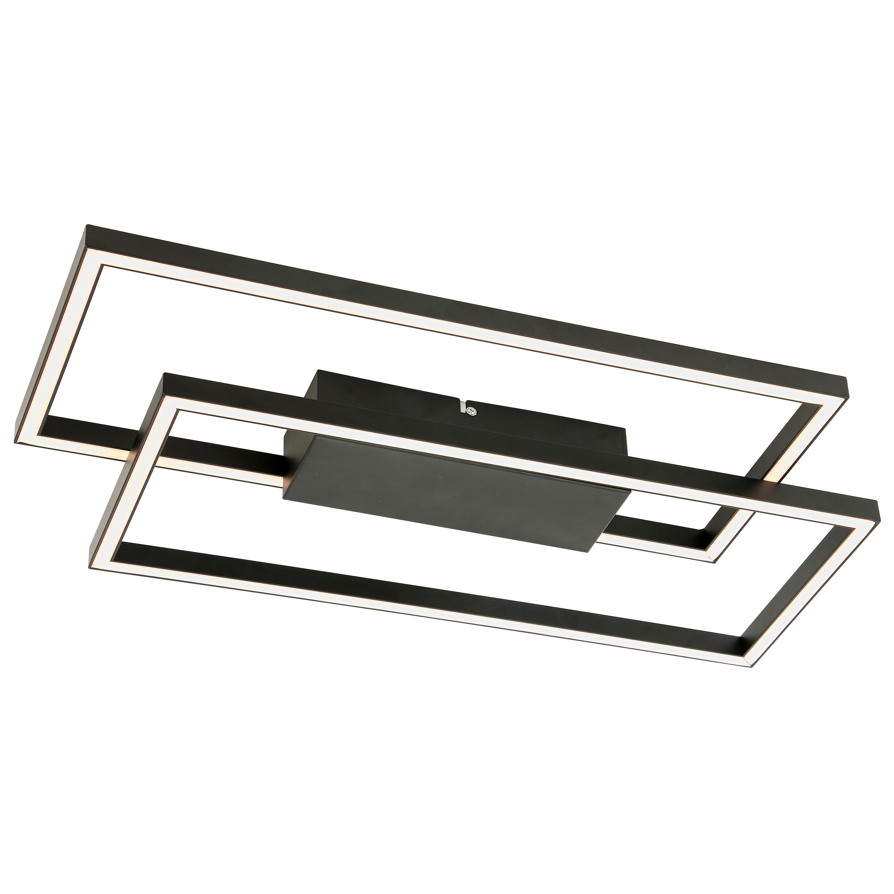 Plafonnier en métal noir