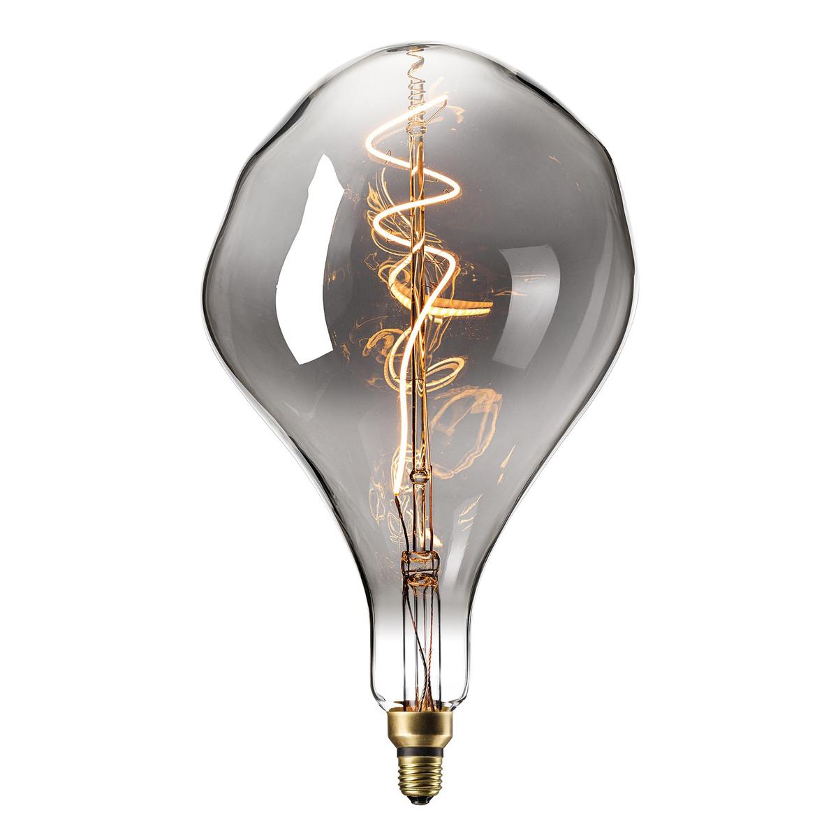 Ampoule filament décorative en verre argenté