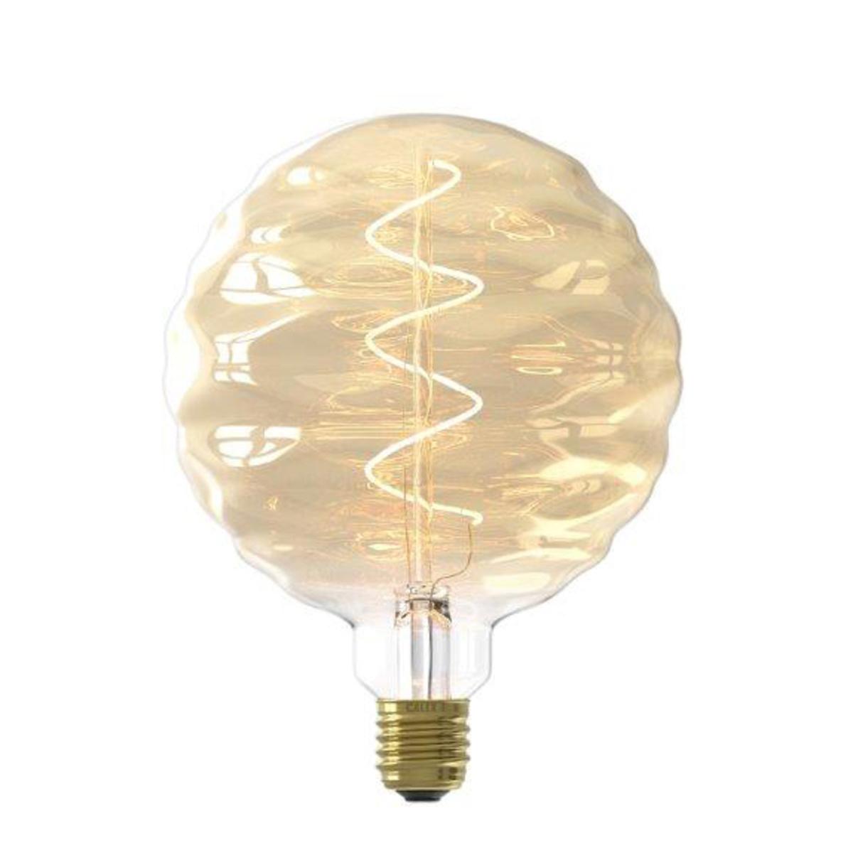 Ampoule filament décorative en verre doré