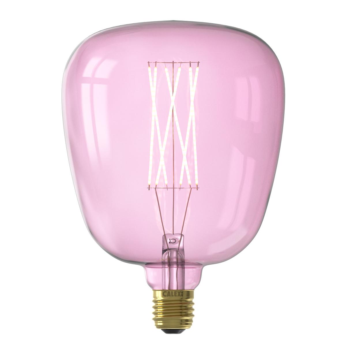Ampoule filament décorative en verre rose