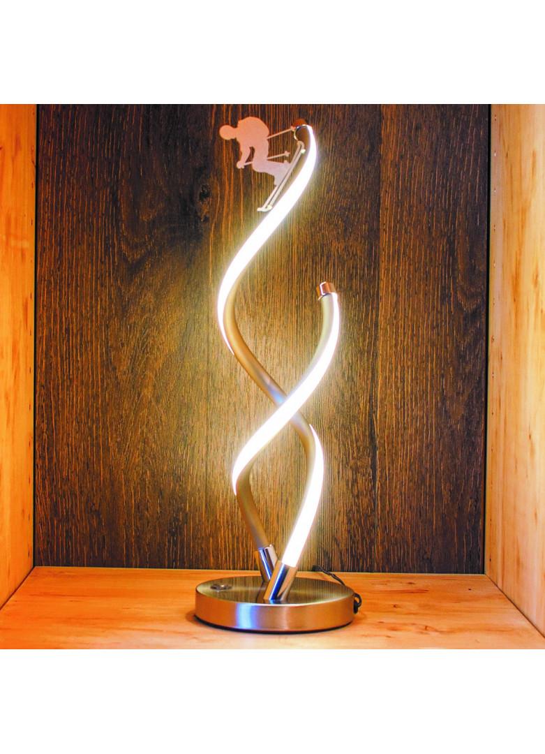 Lampe led skieur métal satiné