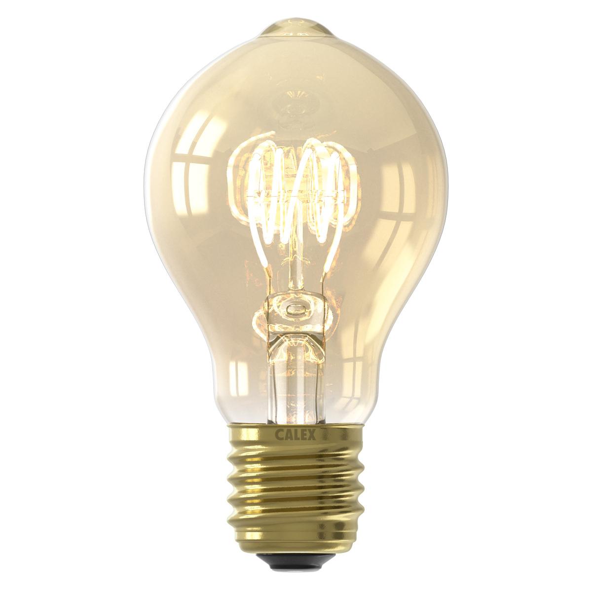 Ampoule filament décorative en verre orange