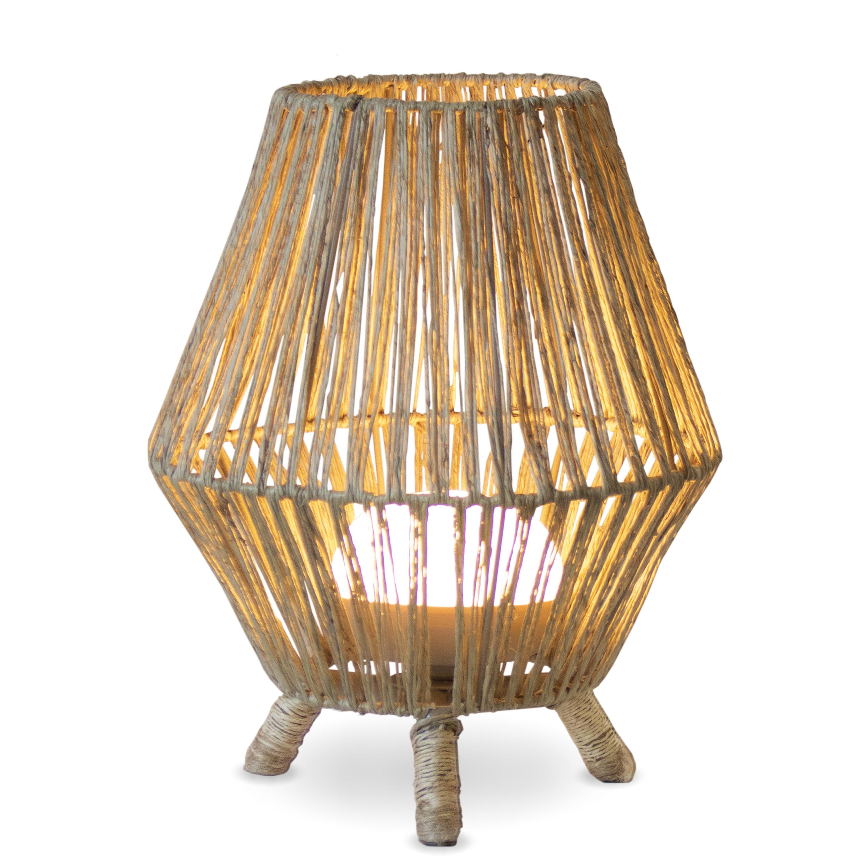 Lampe en bois marron