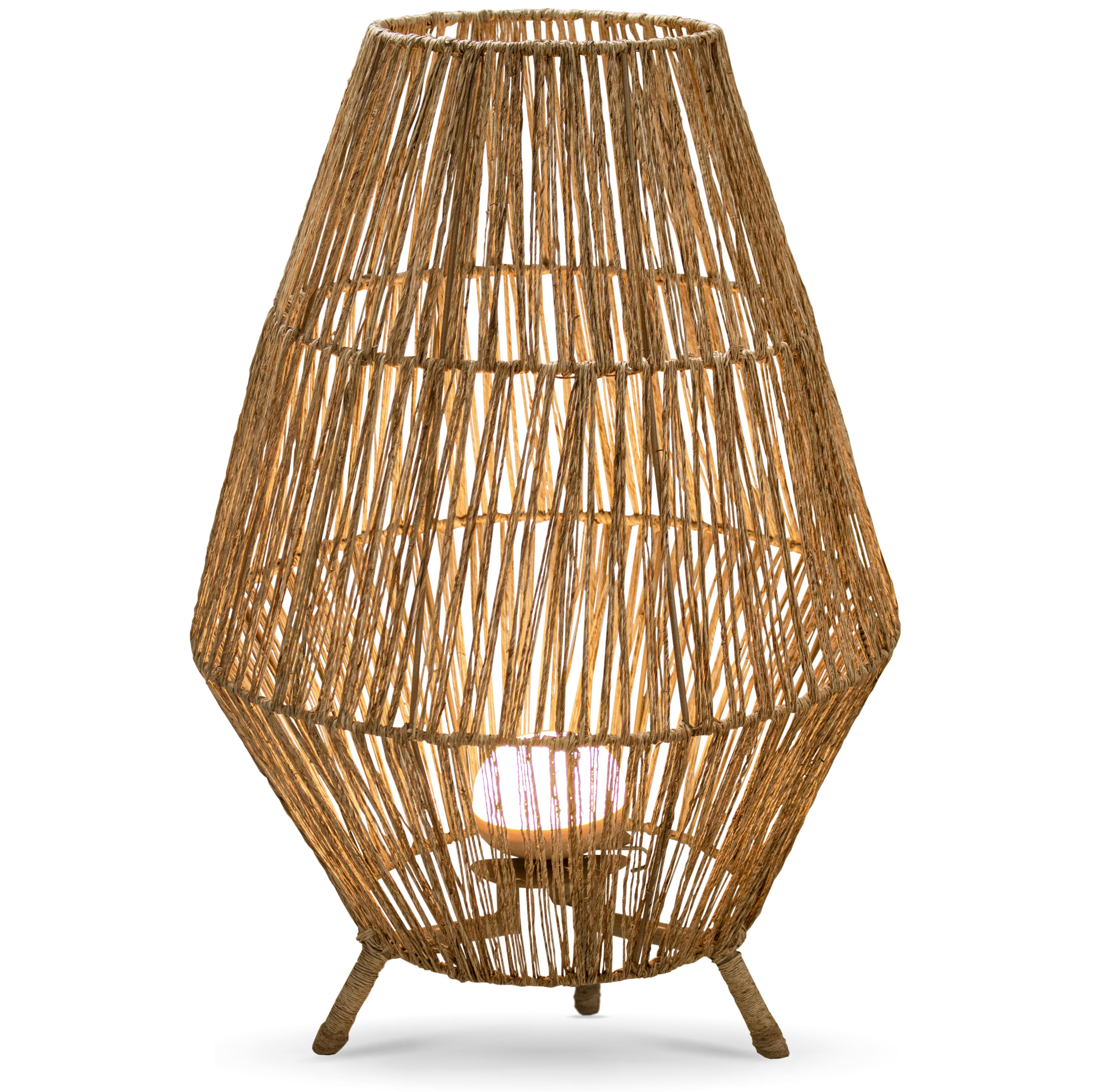 Lampe extérieur en bois marron
