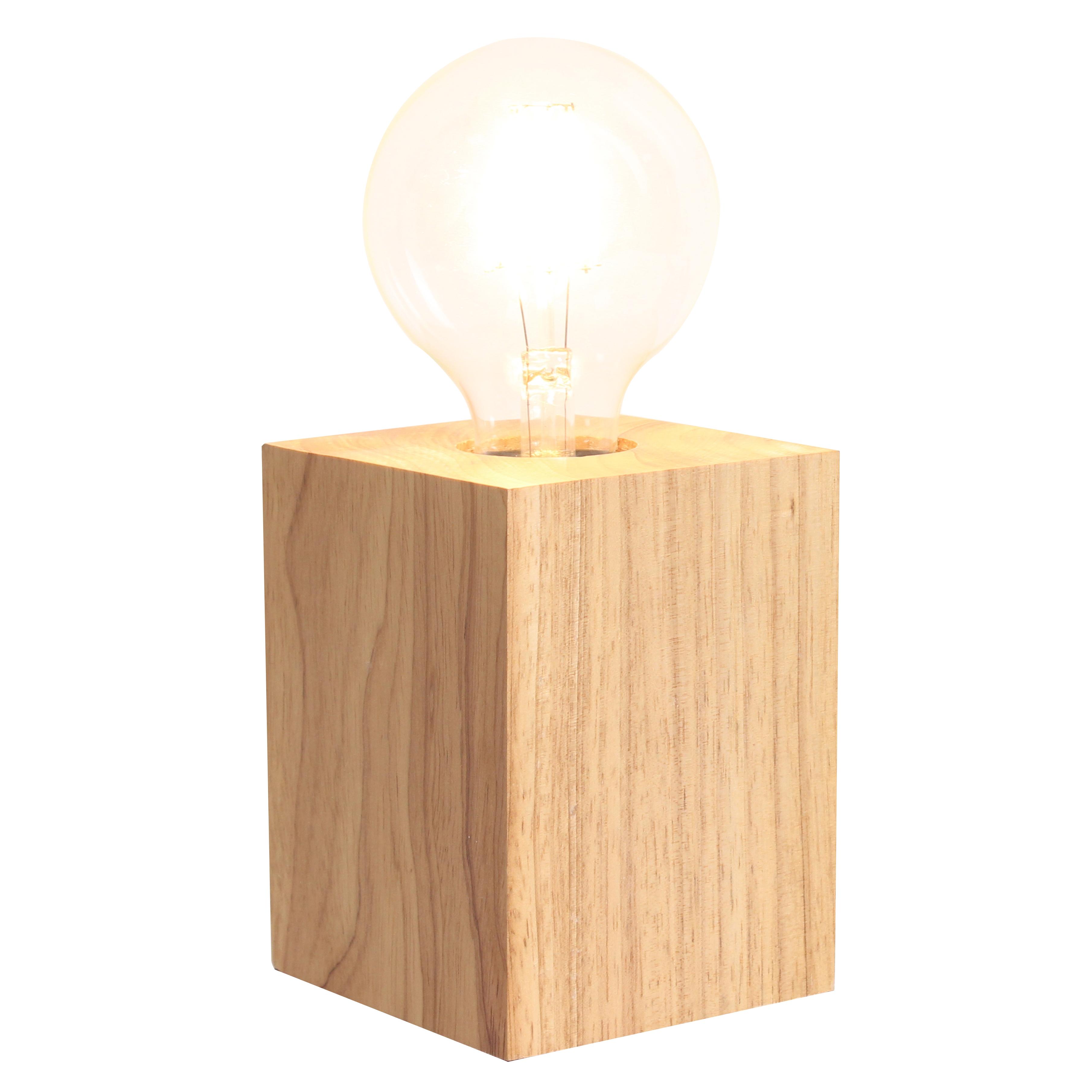 Pied de lampe en bois naturel