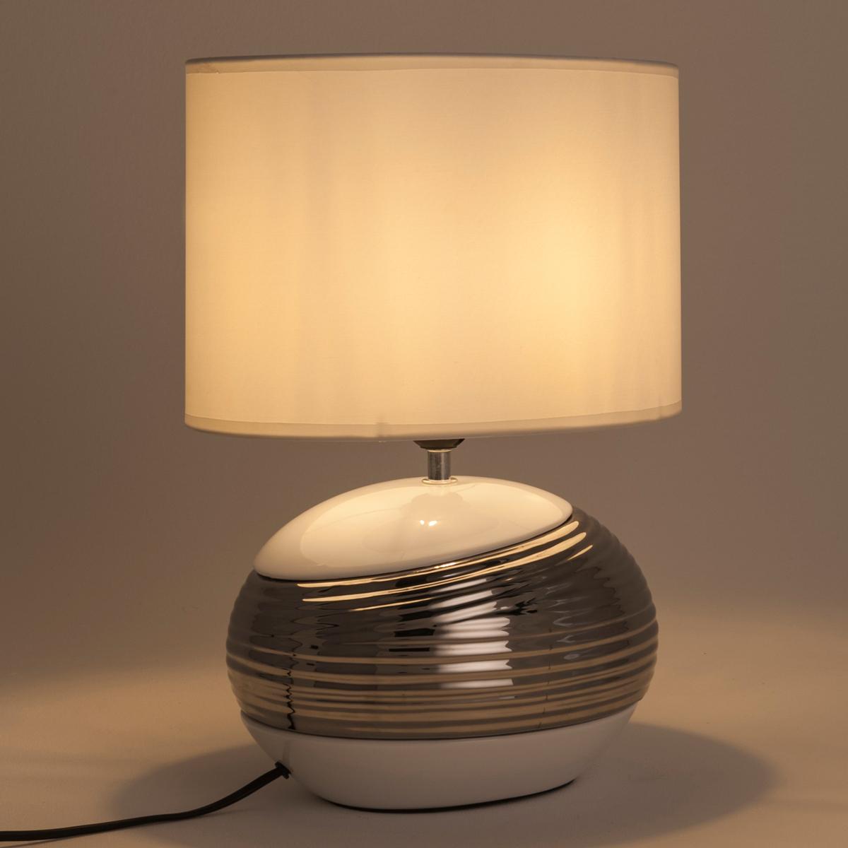 Lampe en céramique blanc