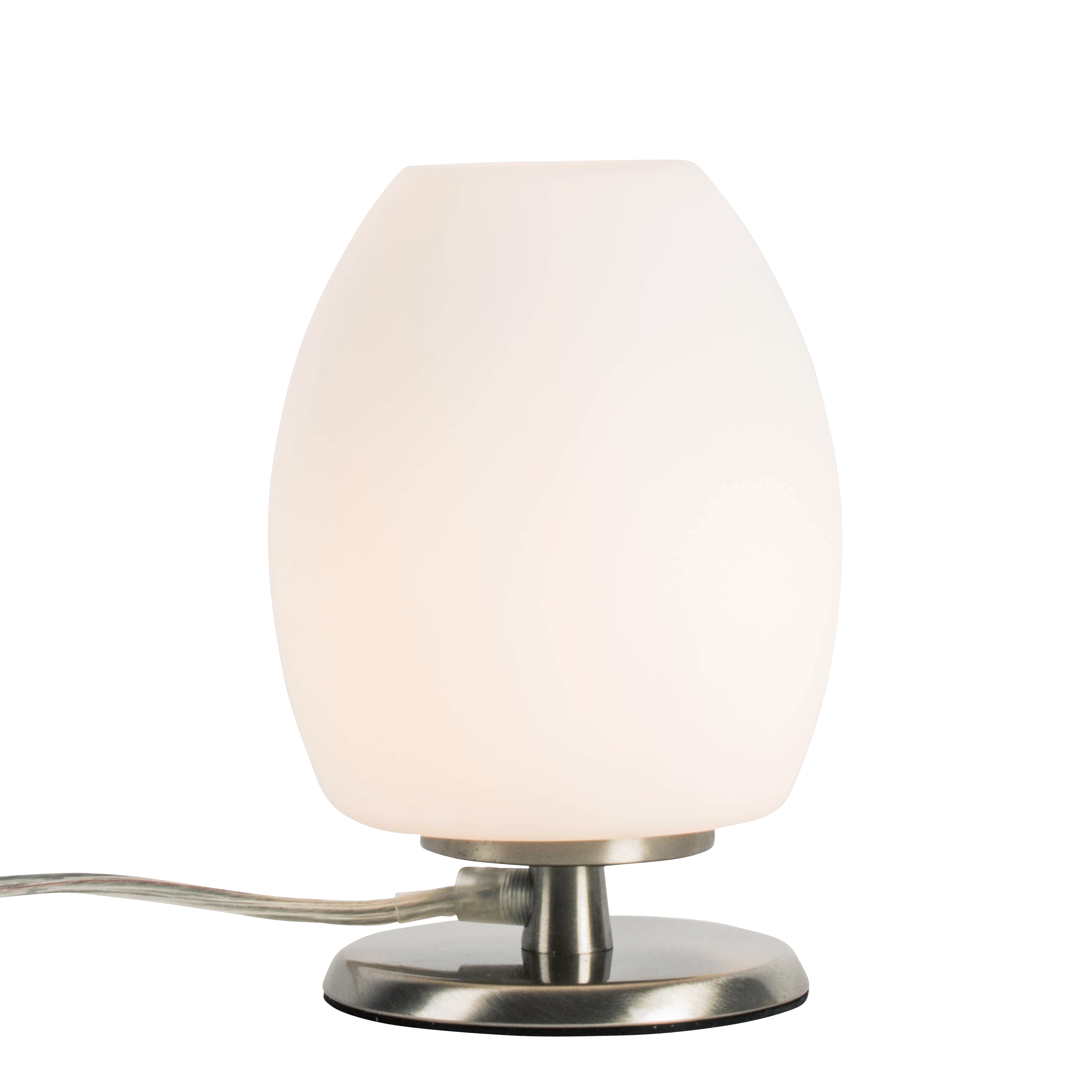 Lampe en verre blanc