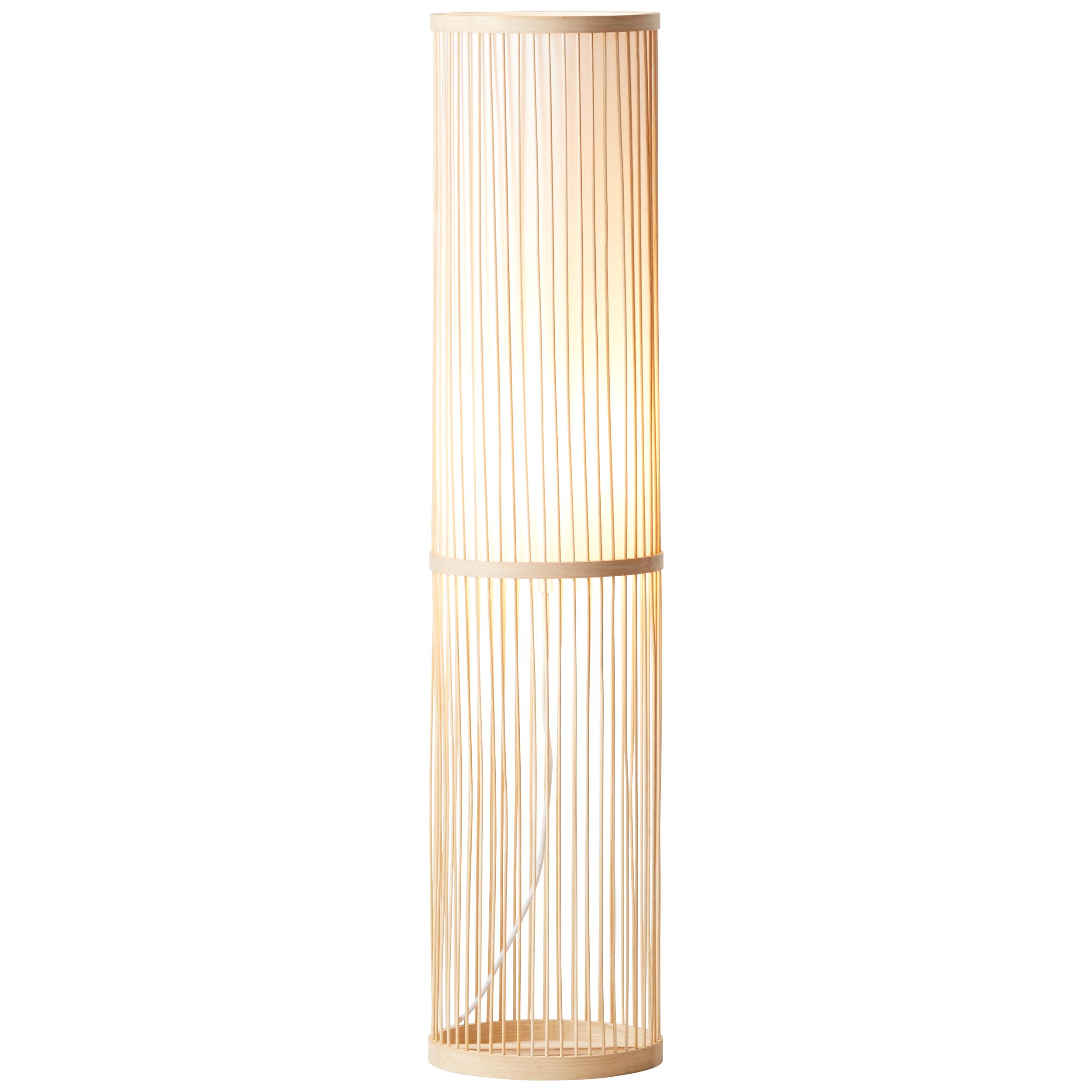 Lampadaire en bambou naturel