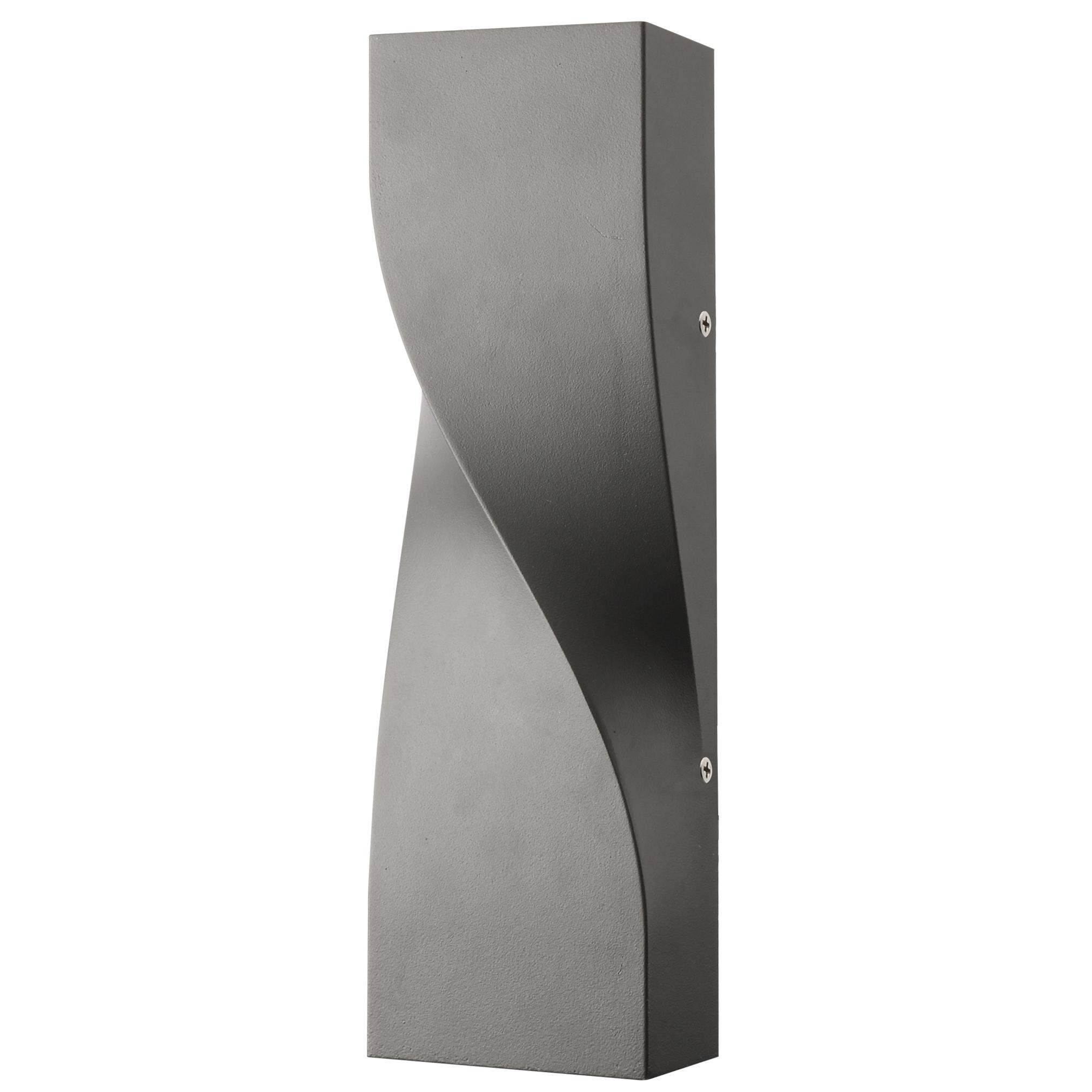 Applique extérieur en aluminium gris