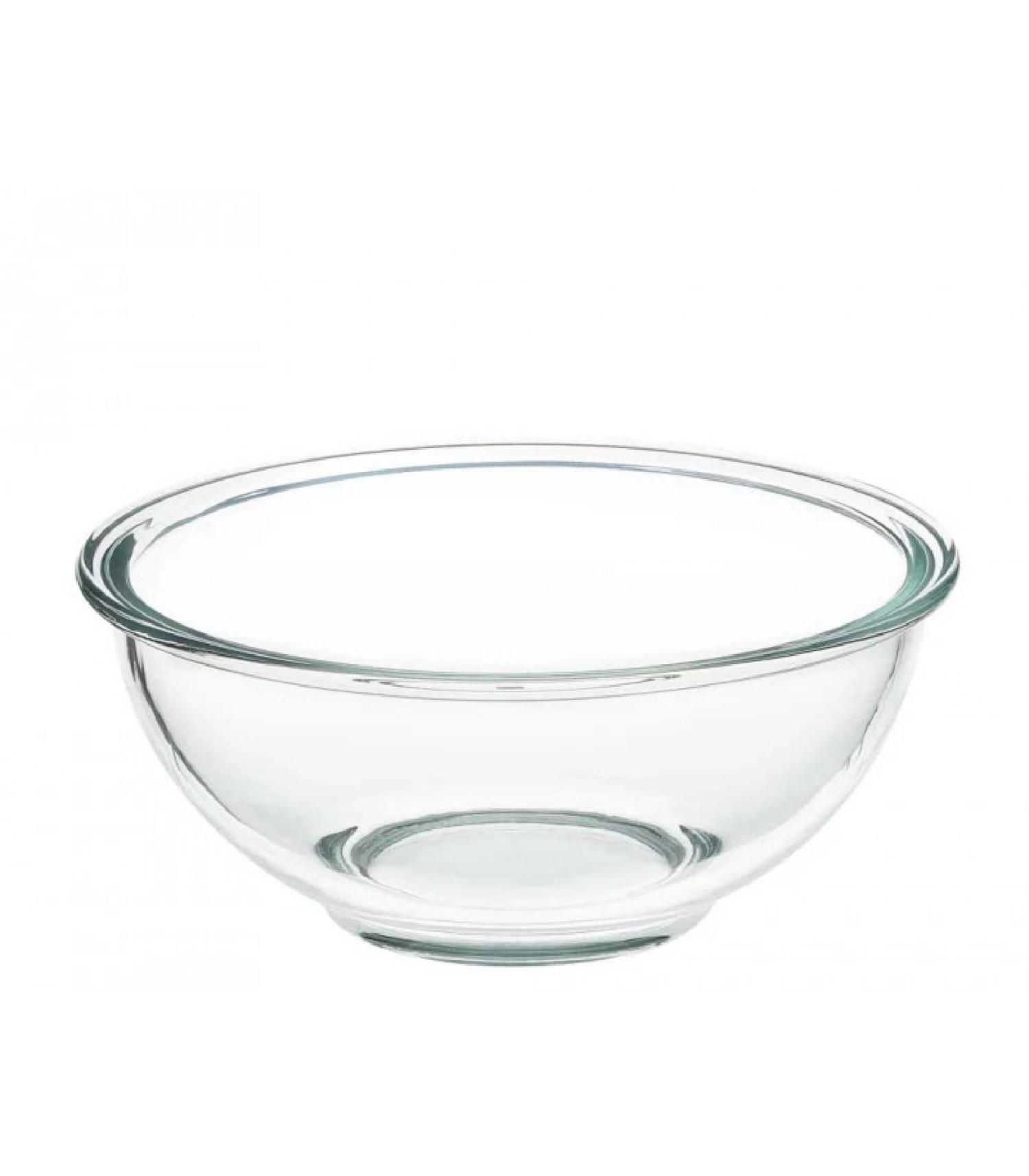 Bol préparation mélangeur en verre borosilicate D20,6cm