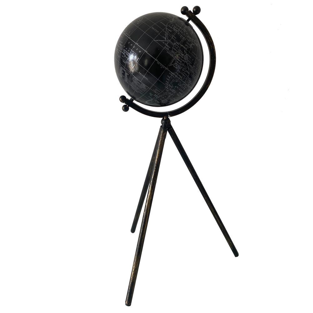 Globe terrestre sur trépied H54cm