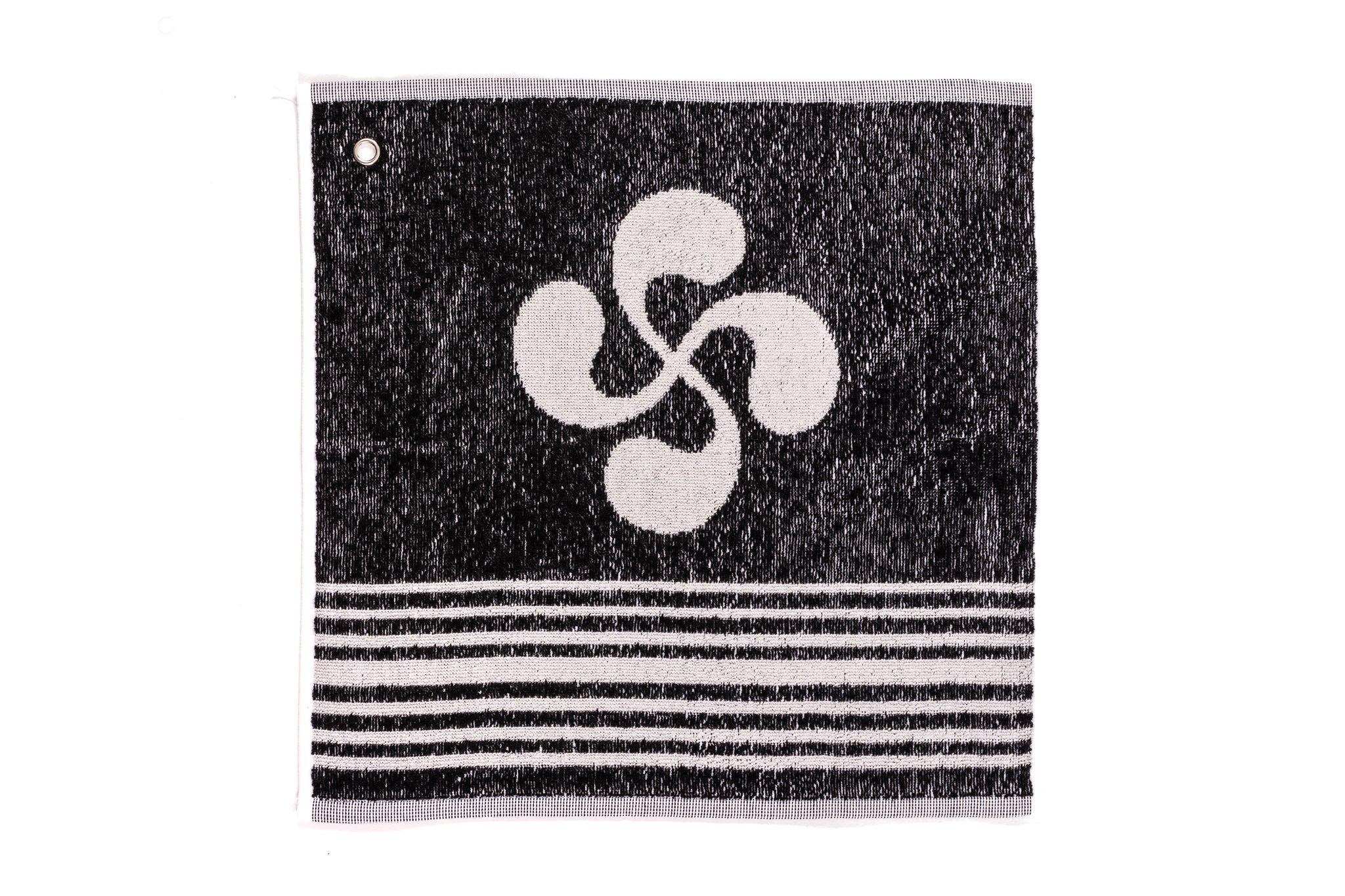 Essuie main 100% coton noir 29 × 35 cm