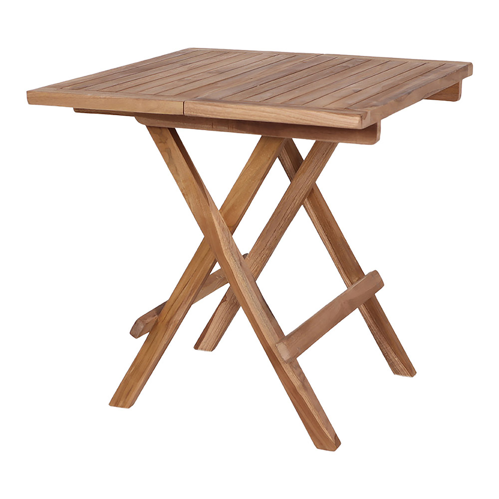 Table de jardin pliante en bois de teck couleur naturelle