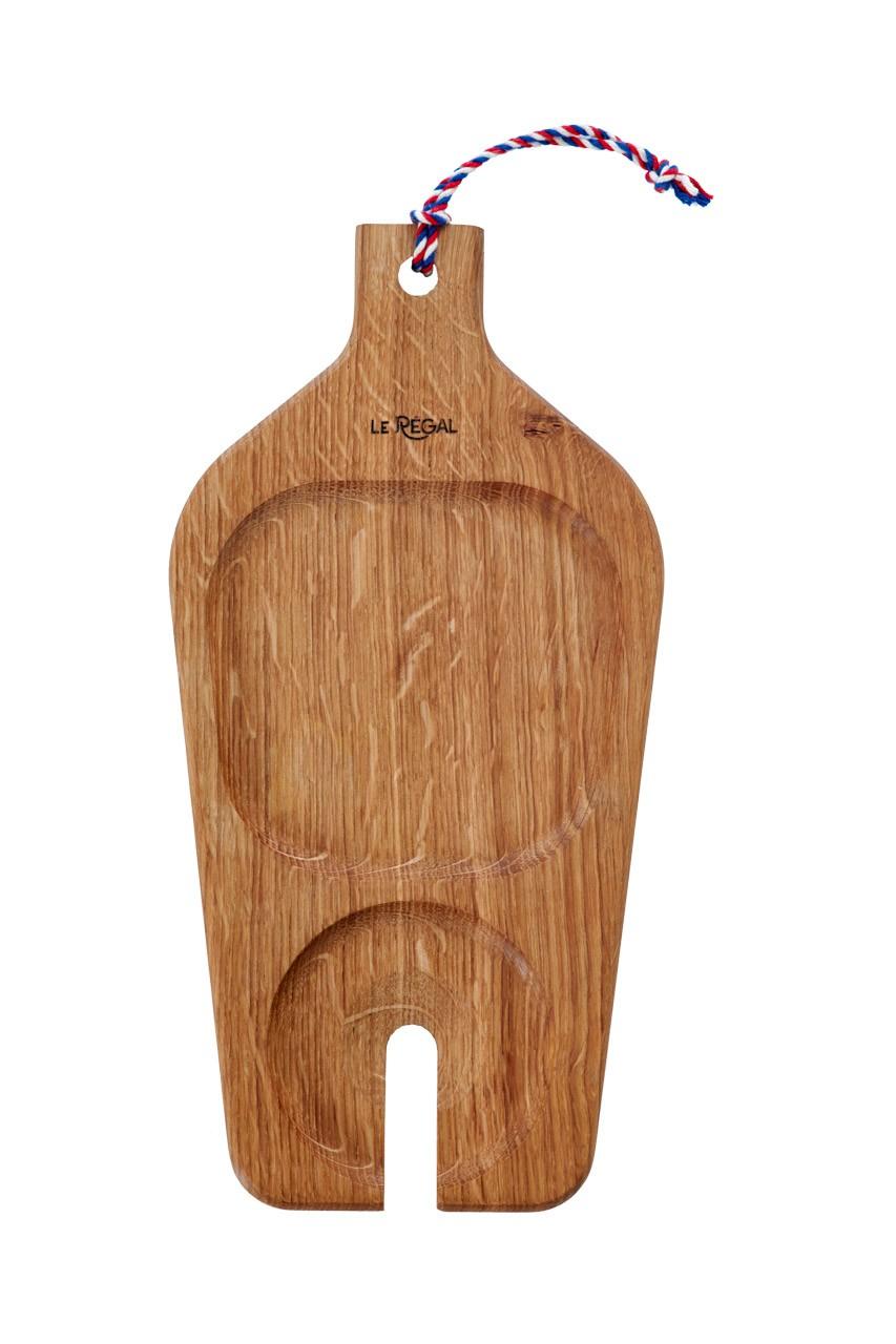 Planche apéro porte verre de vin en chêne 30x15cm
