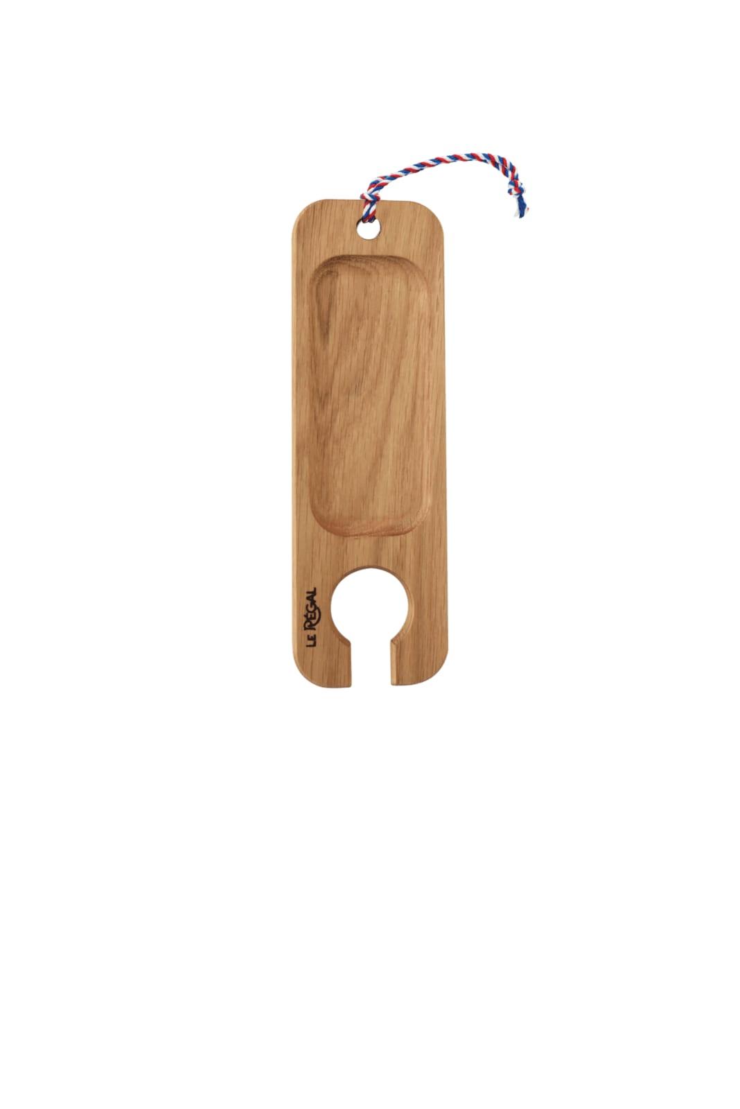 Planche apéro porte verre de vin en chêne 25x8cm