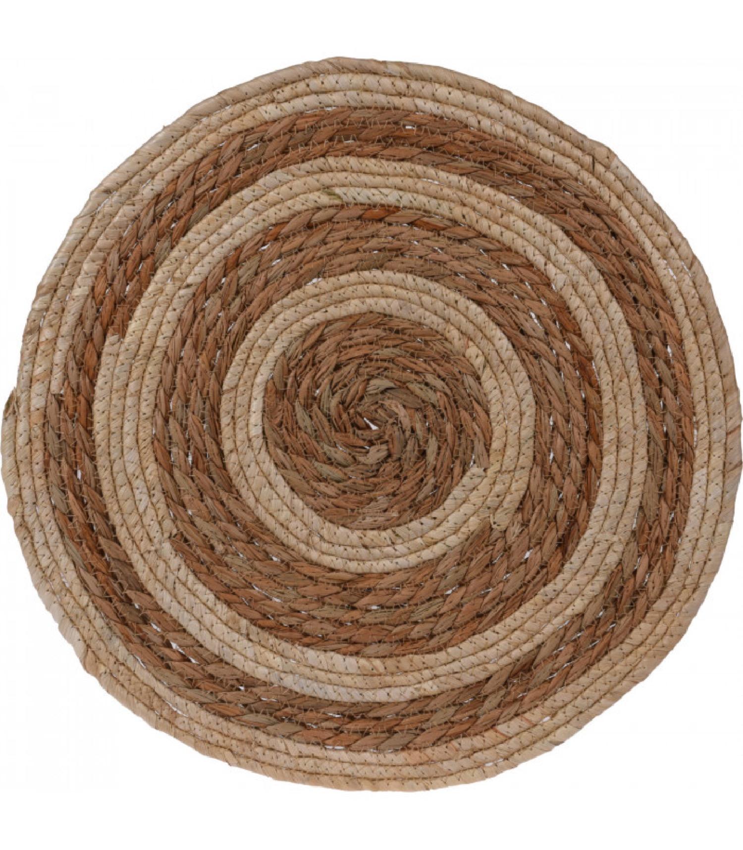 Set de table rond tressé fibres naturelles D38