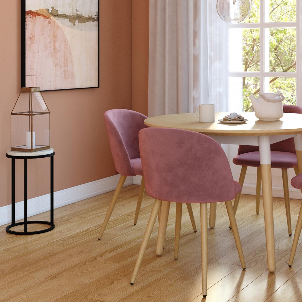 Table d'appoint ronde en terrazzo et pieds en métal noir